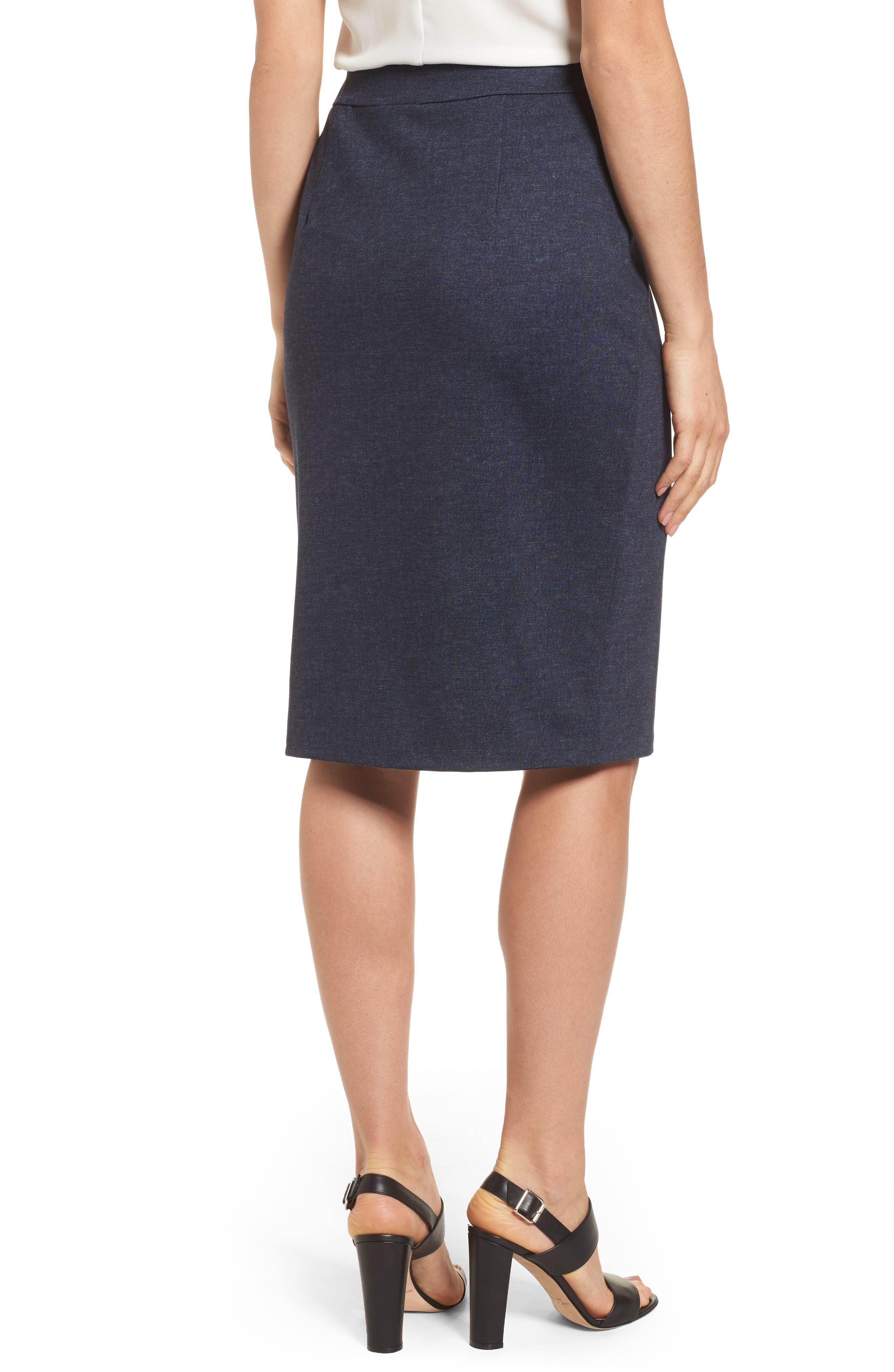 Alternate Image 4  - Halogen® Knit Pencil Skirt (Regular & Petite)