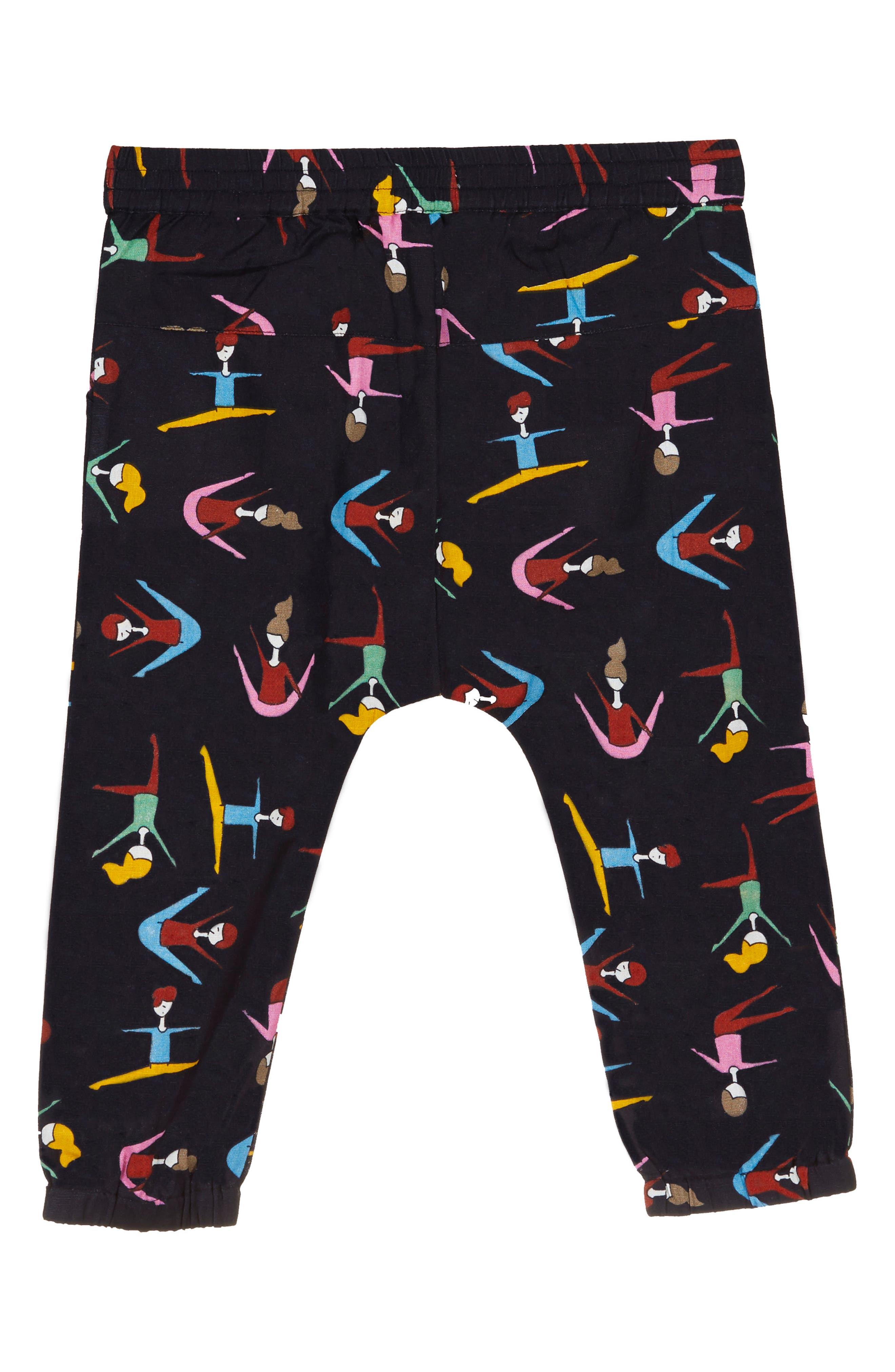 Stretching Print Harem Pants,                             Alternate thumbnail 2, color,                             Black Multi