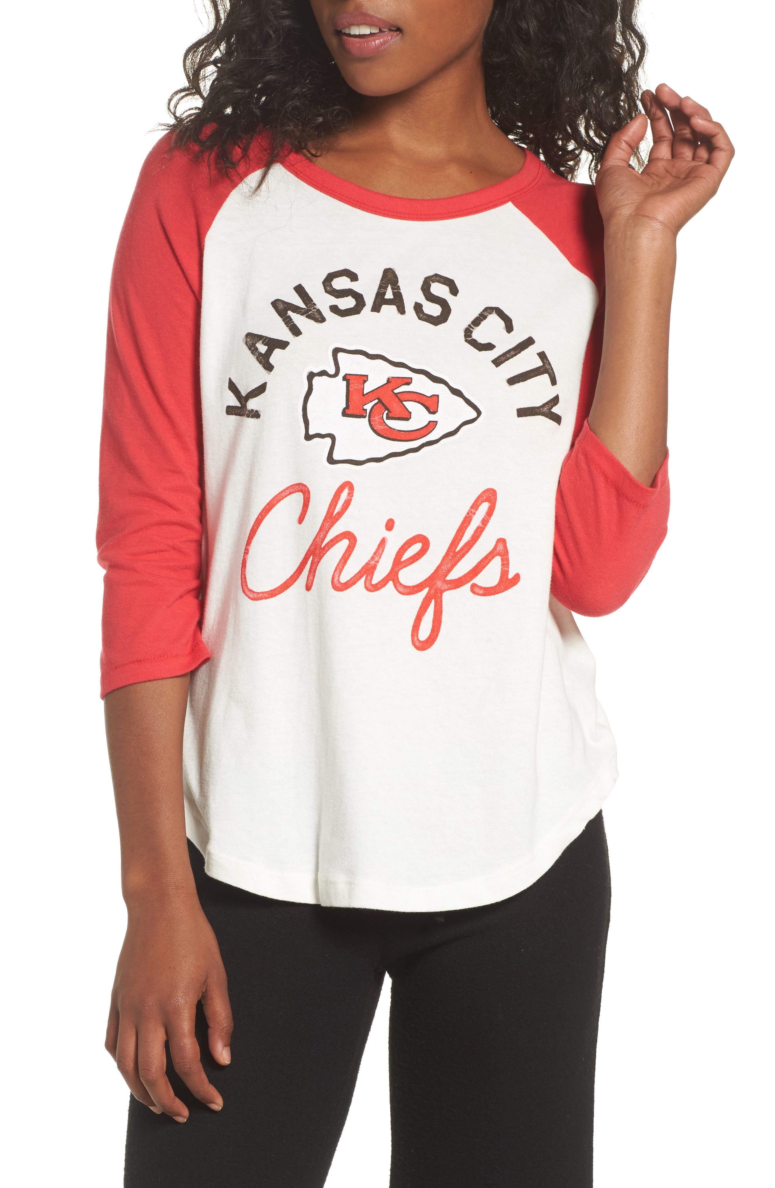 Alternate Image 1 Selected - Junk Food NFL Kansas City Chiefs Raglan Tee
