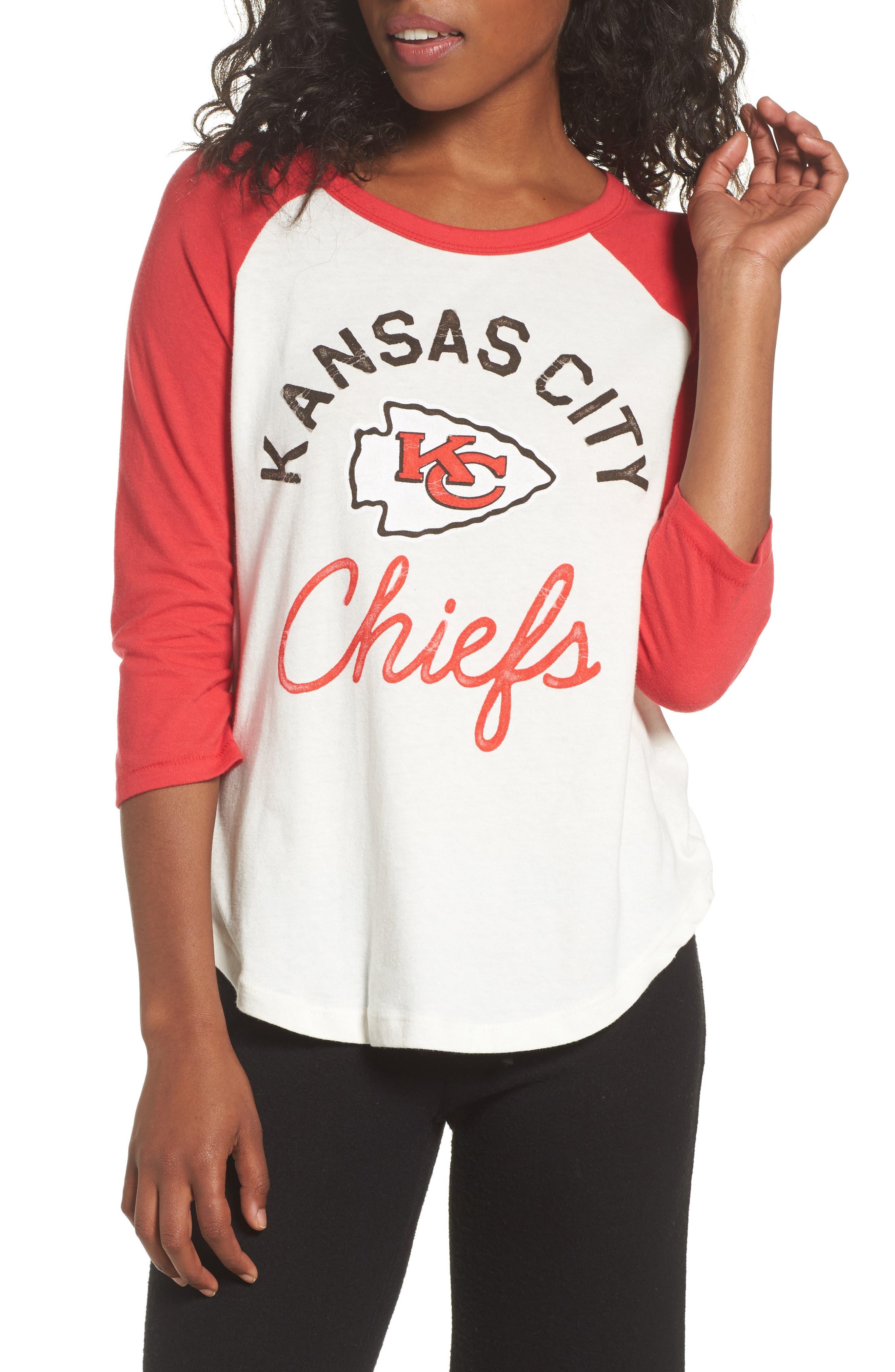 NFL Kansas City Chiefs Raglan Tee,                         Main,                         color, Sugar/ Licorice