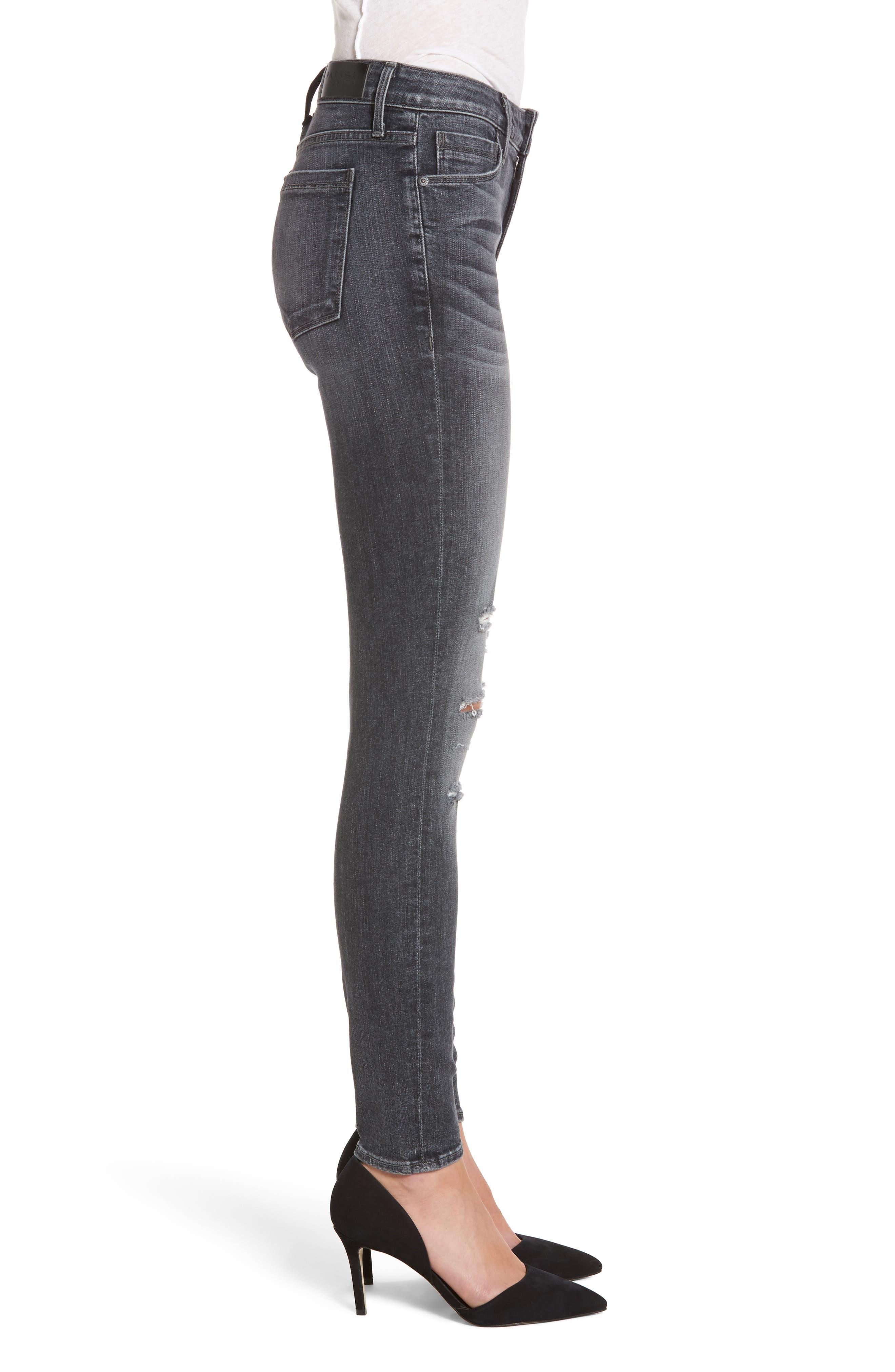 Kam Mid-Rise Skinny Jeans,                             Alternate thumbnail 3, color,                             Grey Matter