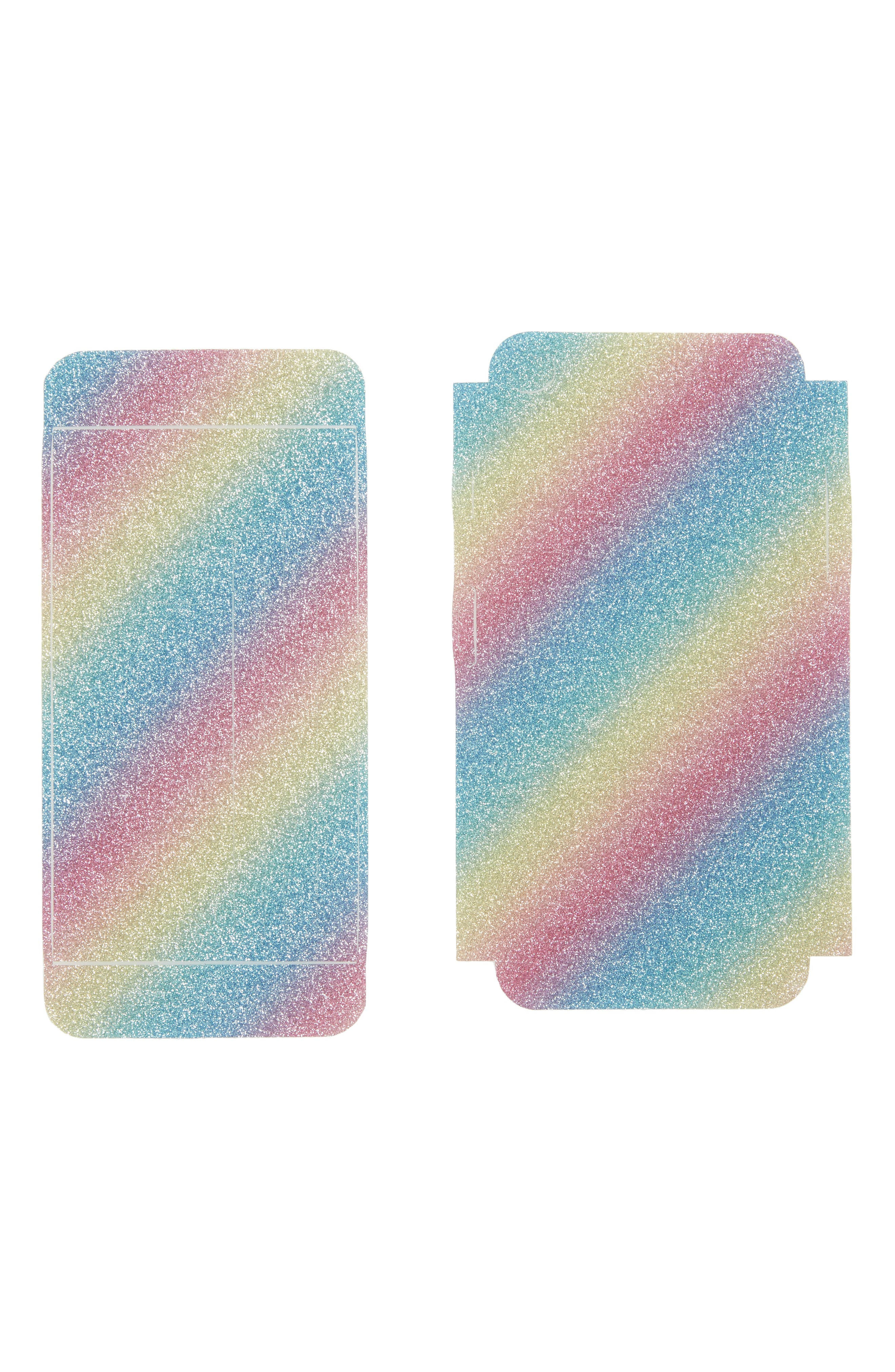 VELVET CAVIAR Rainbow Glitter iPhone 7 Decal