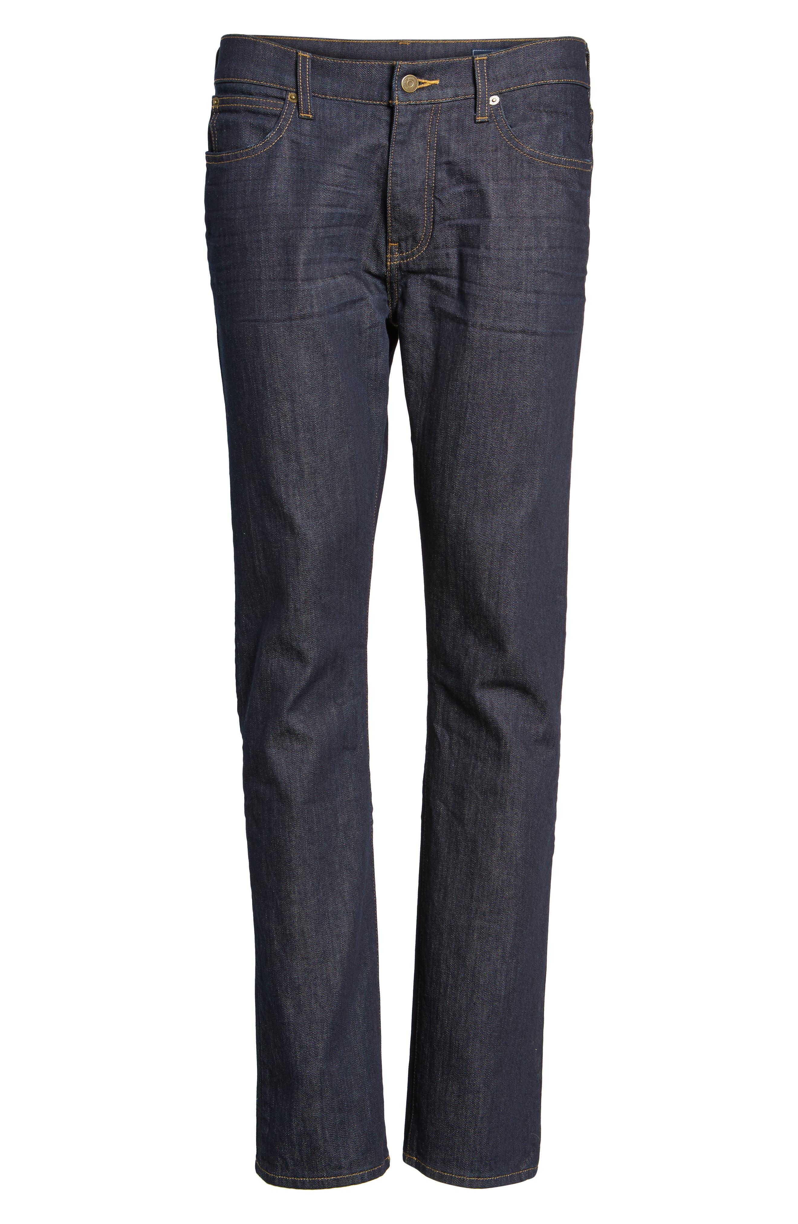 Straight Leg Jeans,                             Alternate thumbnail 6, color,                             Baltic Blue