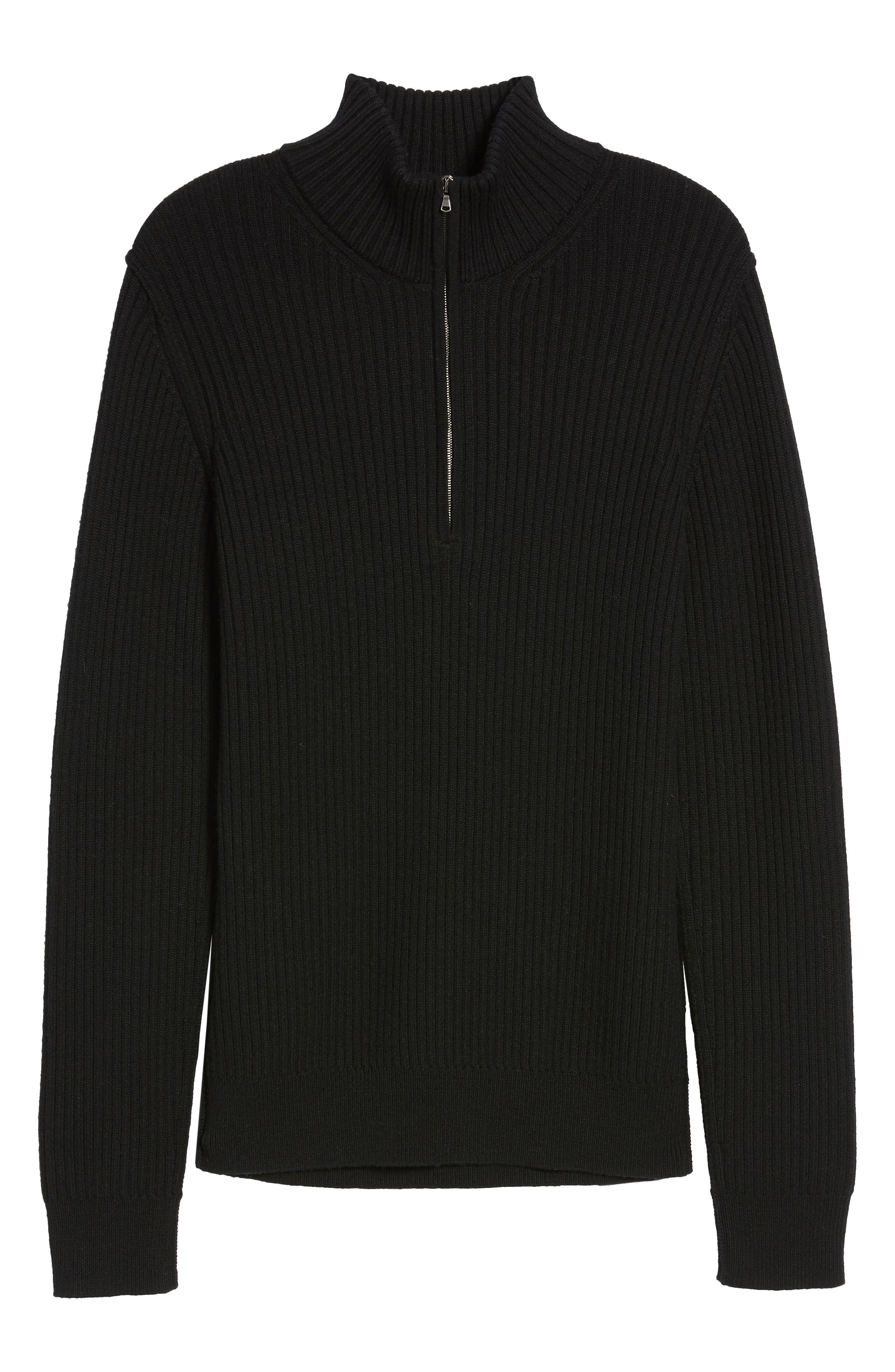 Alternate Image 5  - Vince Ribbed Quarter Zip Mock Neck Sweater