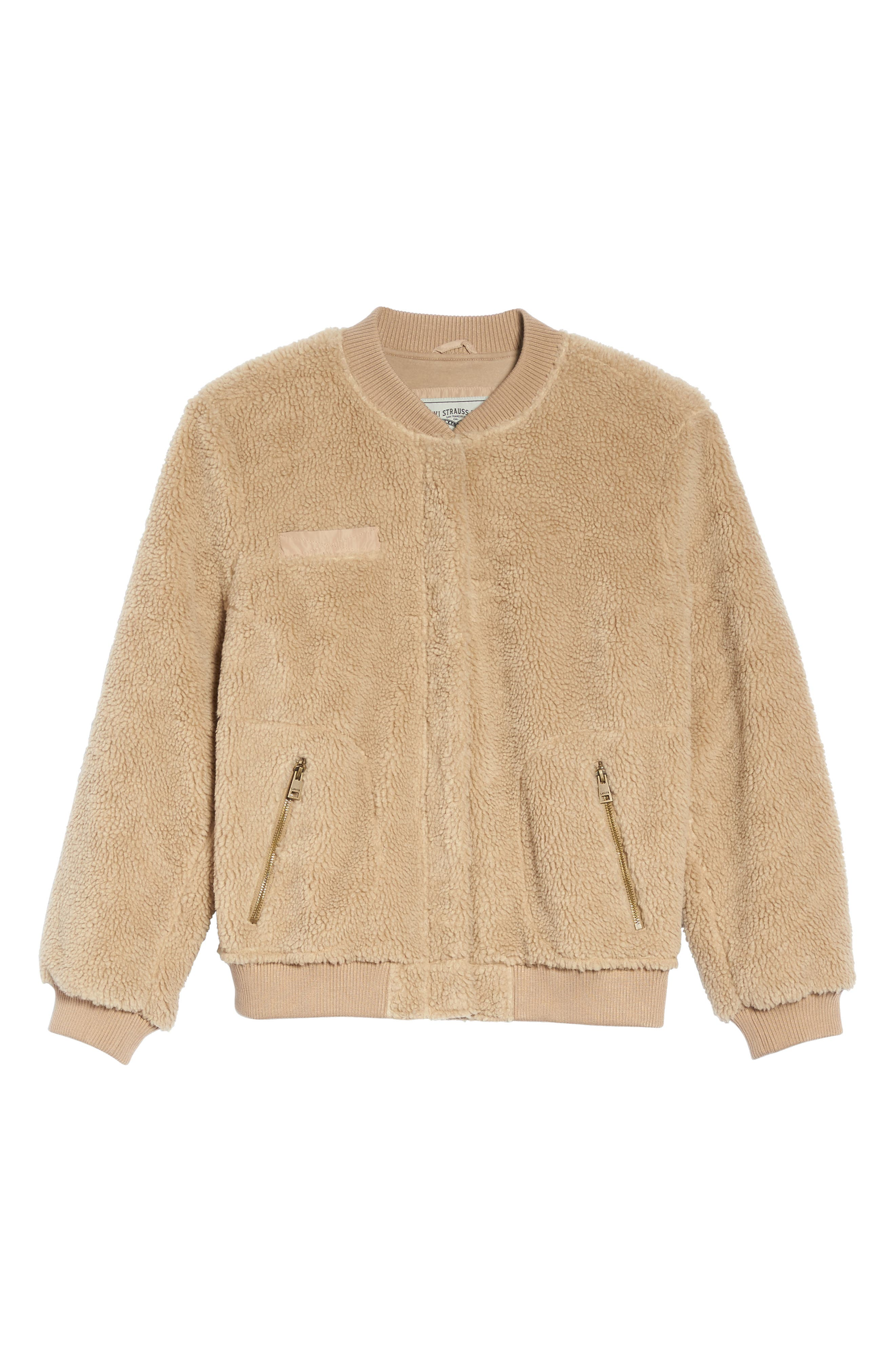 Alternate Image 6  - Levi's® Rib Knit Fleece Bomber Jacket