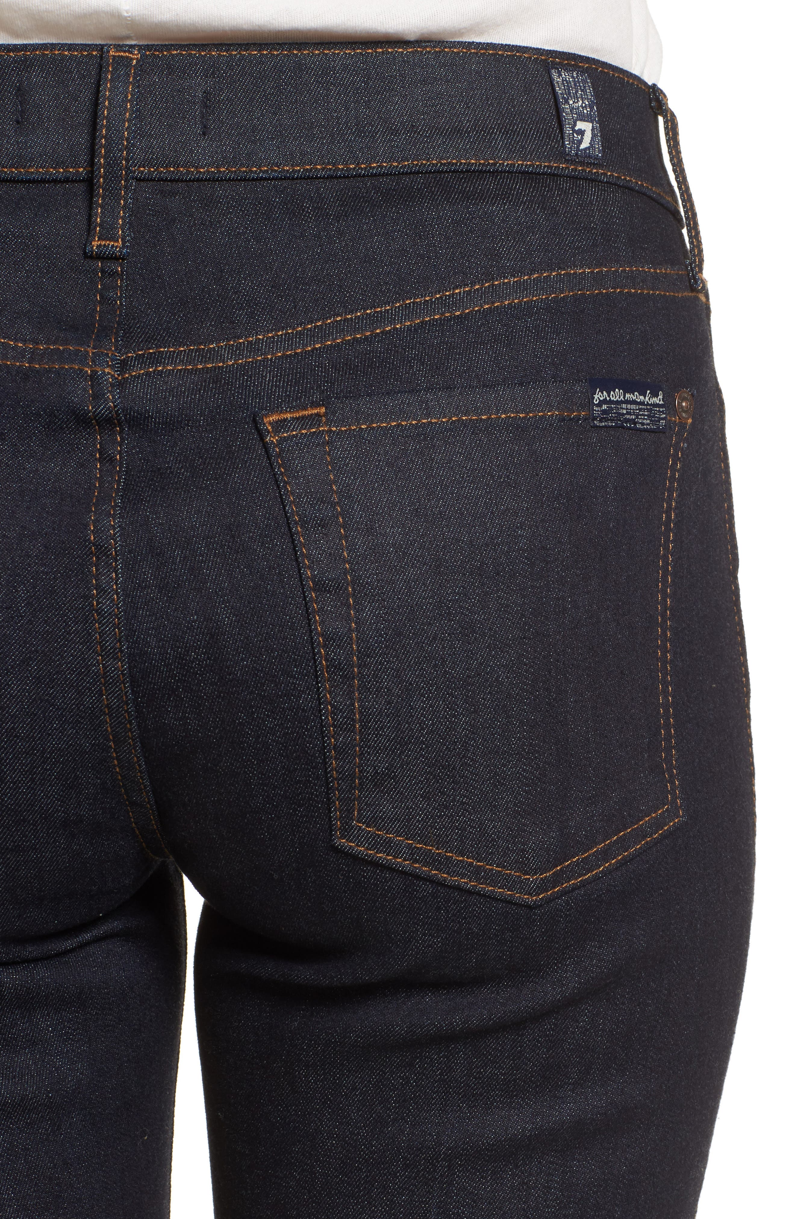 Alternate Image 4  - 7 For All Mankind® Step Hem Ankle Skinny Jeans (New York Rinse)