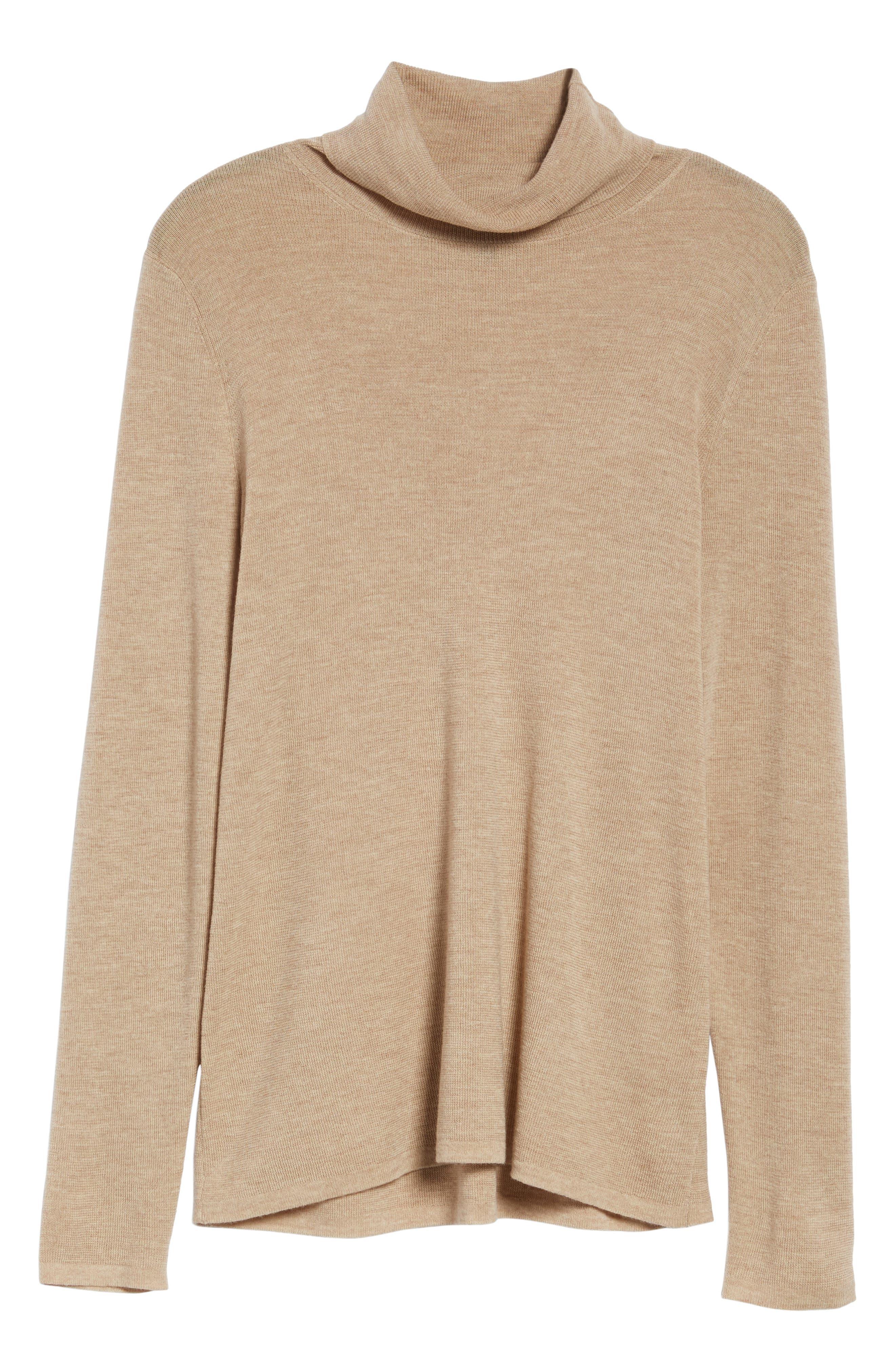 The Fisher Project Ultrafine Merino Turtleneck Sweater,                             Alternate thumbnail 6, color,                             Maple Oat