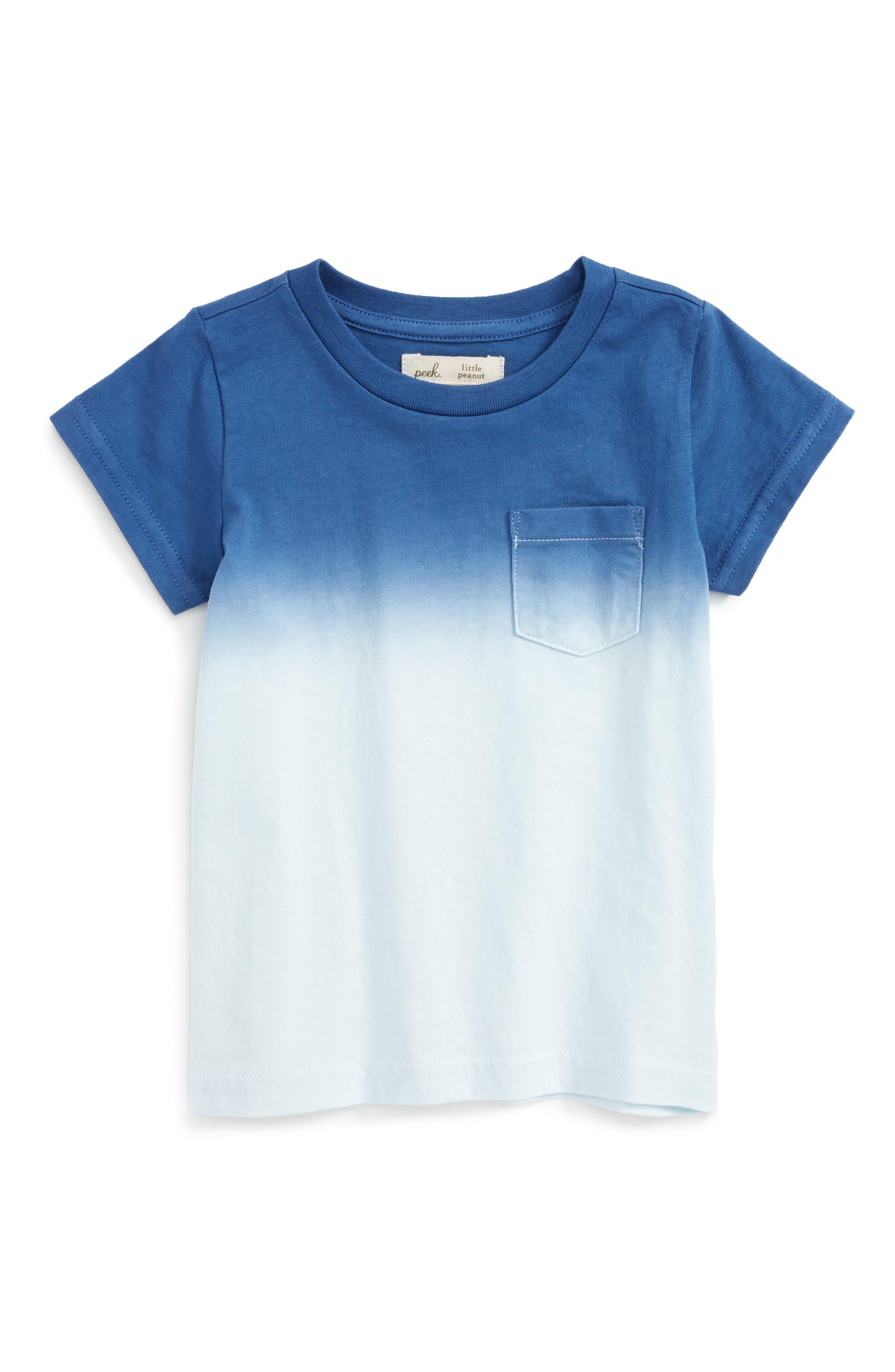 Peek Dip Dye Pocket T-Shirt,                         Main,                         color, Light Blue