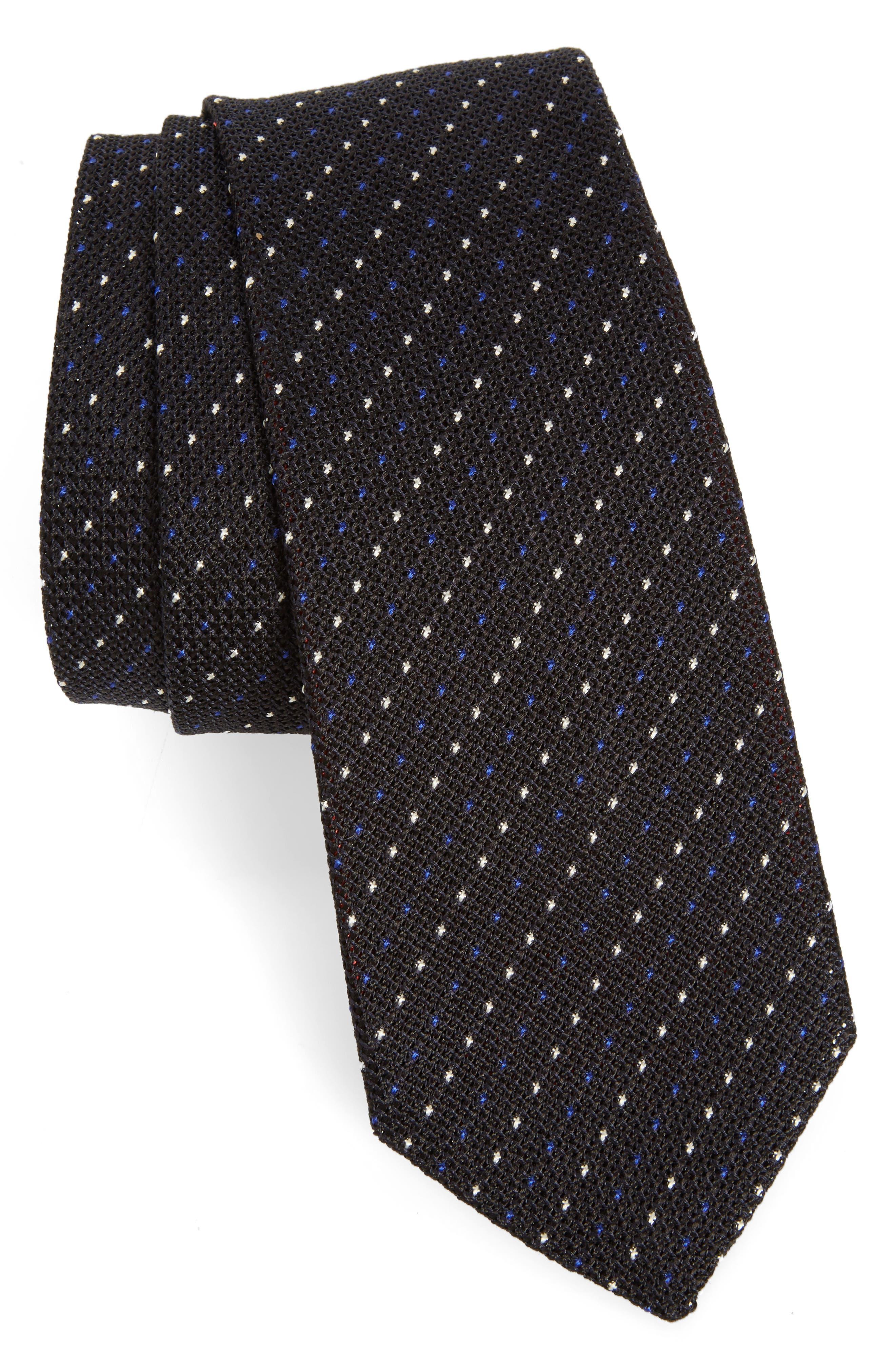 PAUL SMITH Dot Stripe Silk Tie