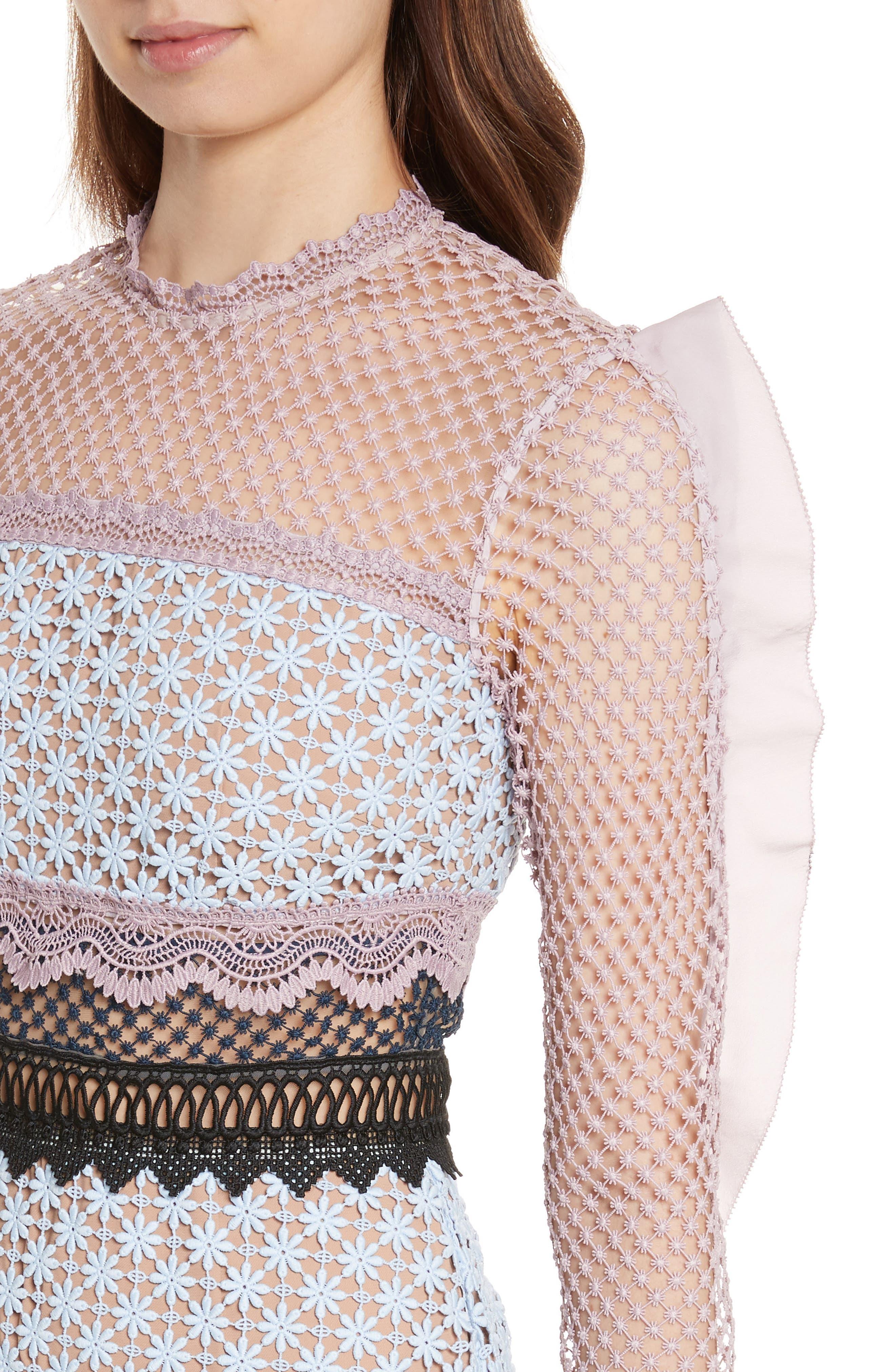 Alternate Image 4  - Self-Portrait Bellis Frill Lace Dress