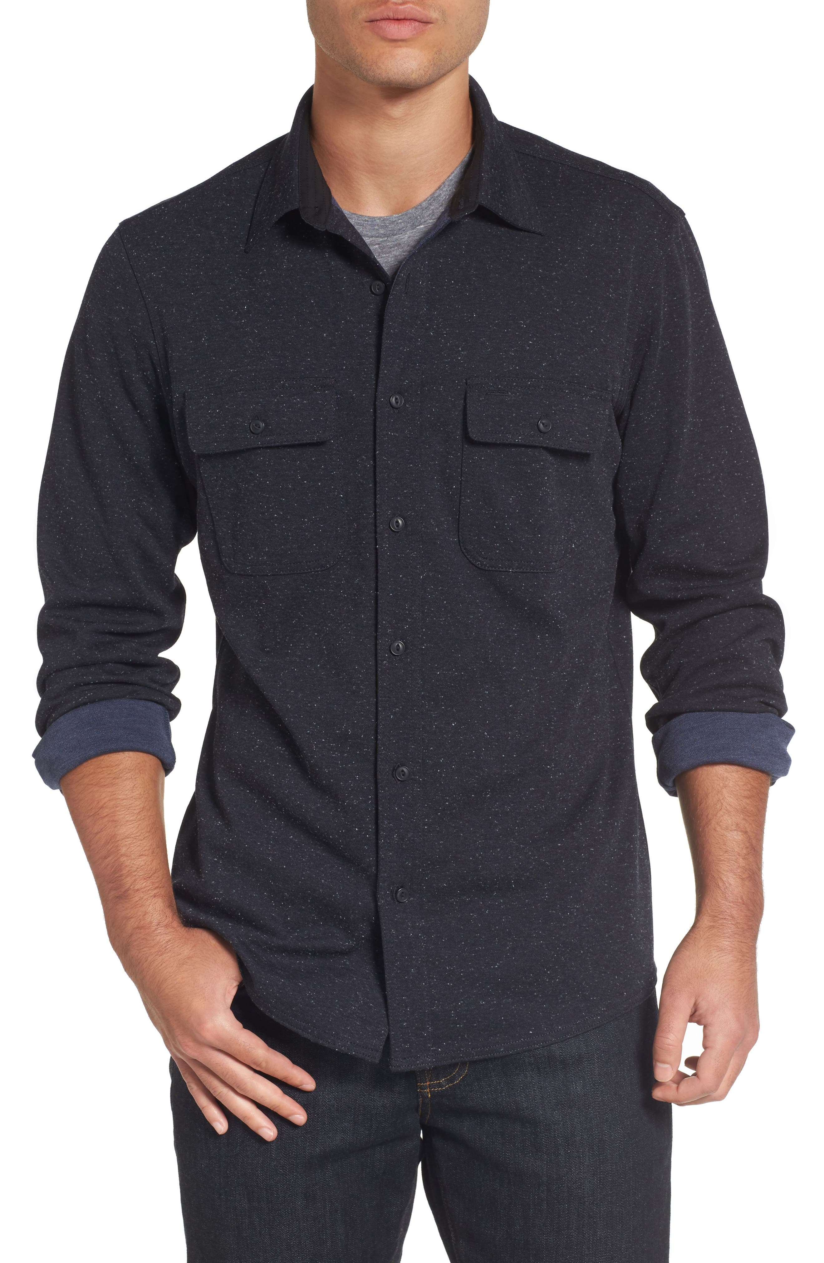 Alternate Image 1 Selected - Nordstrom Men's Shop Knit Sport Shirt