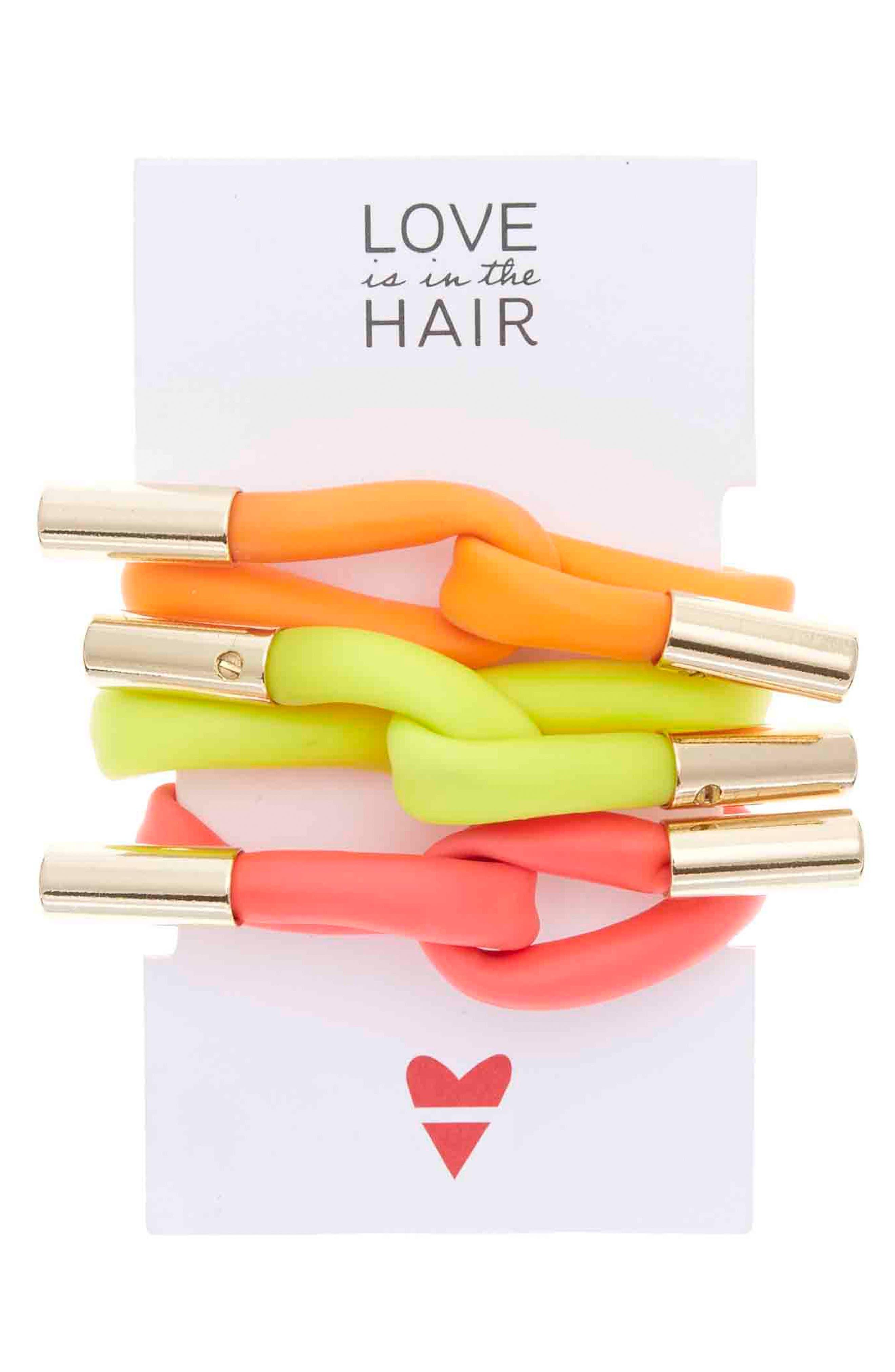 Love Is In The Hair Beach 3-Pack Twister Hair Ties