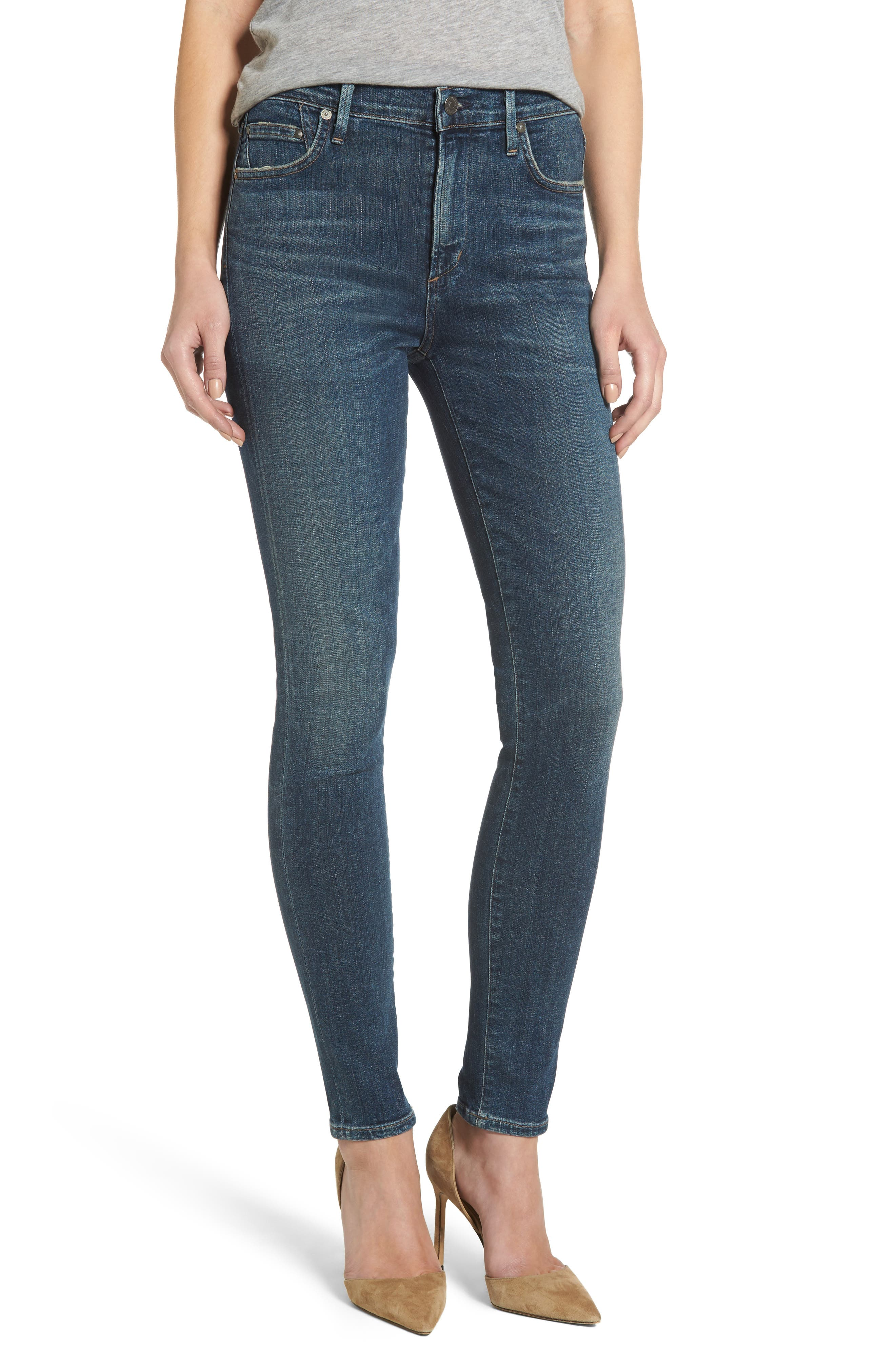 Rocket High Waist Skinny Jeans,                         Main,                         color, Rival
