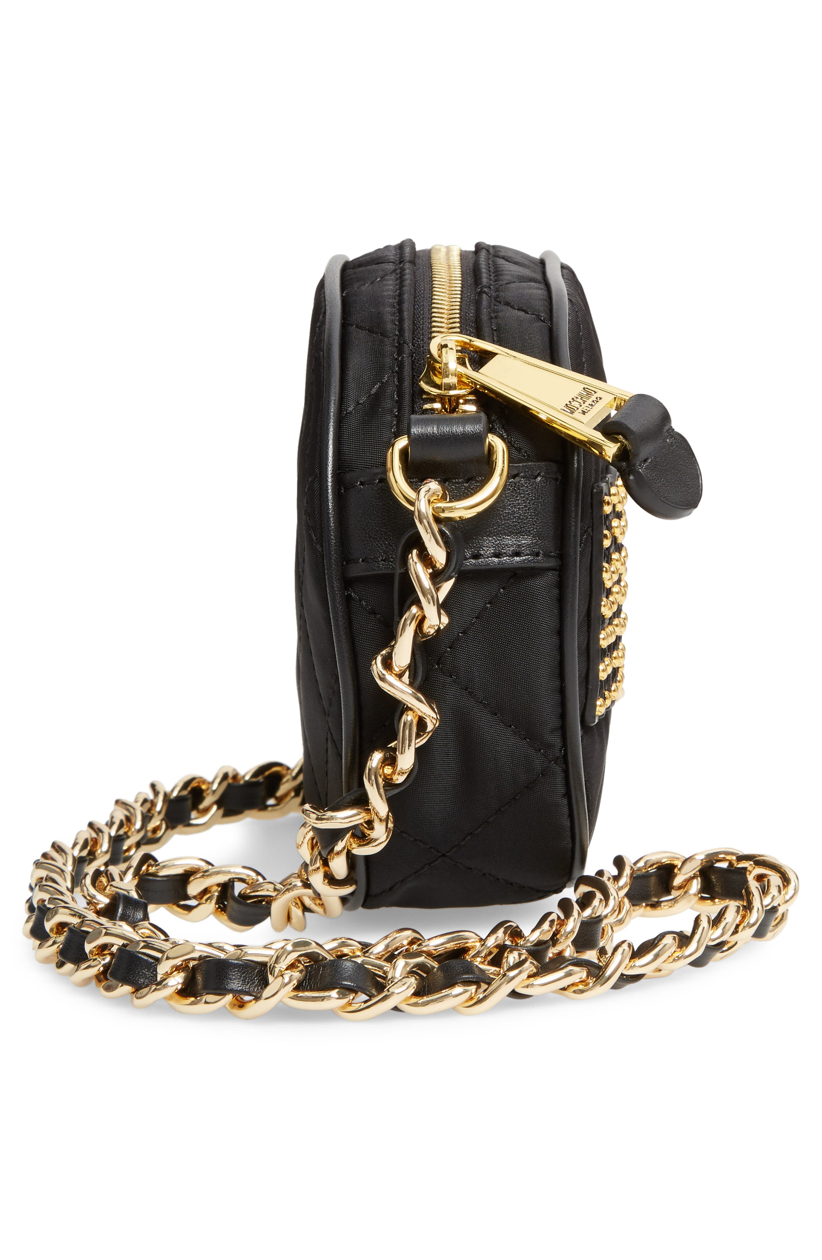 Alternate Image 5  - Moschino Small Quilted Camera Bag