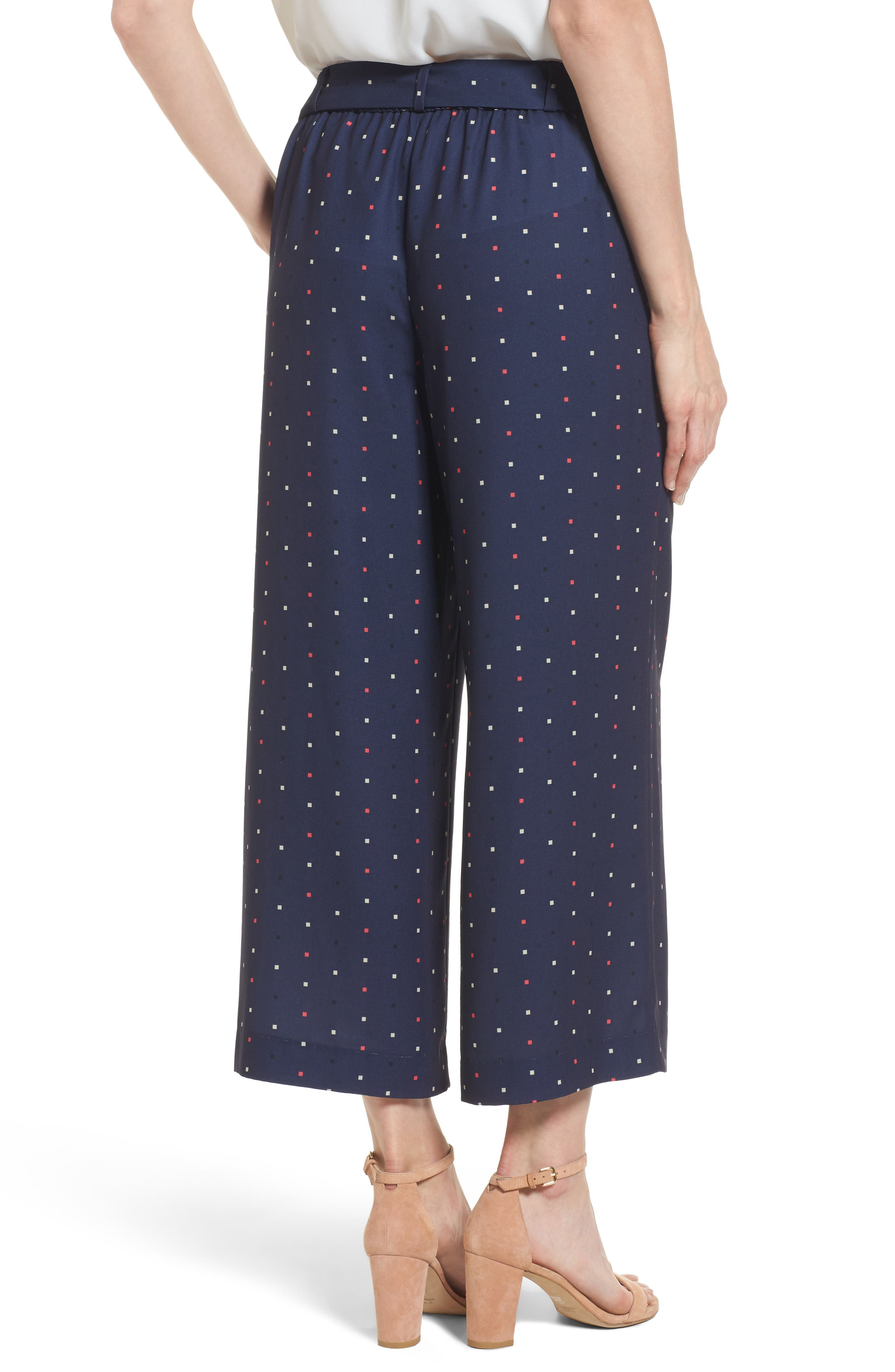 Alternate Image 2  - Halogen® Wide Leg Crop Pants (Regular & Petite)