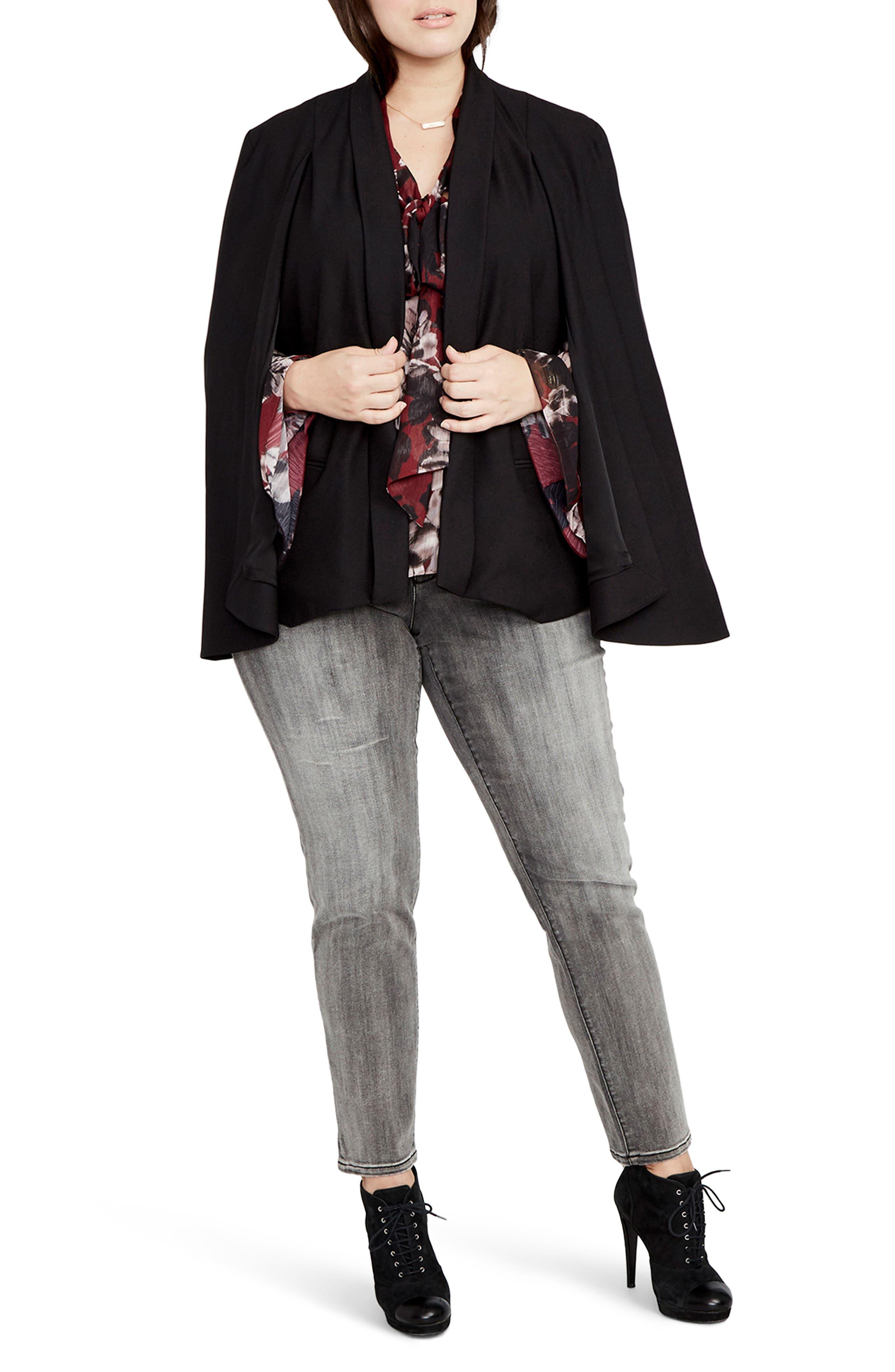 RACHEL Rachel Roy Tuxedo Cape Jacket (Plus Size)