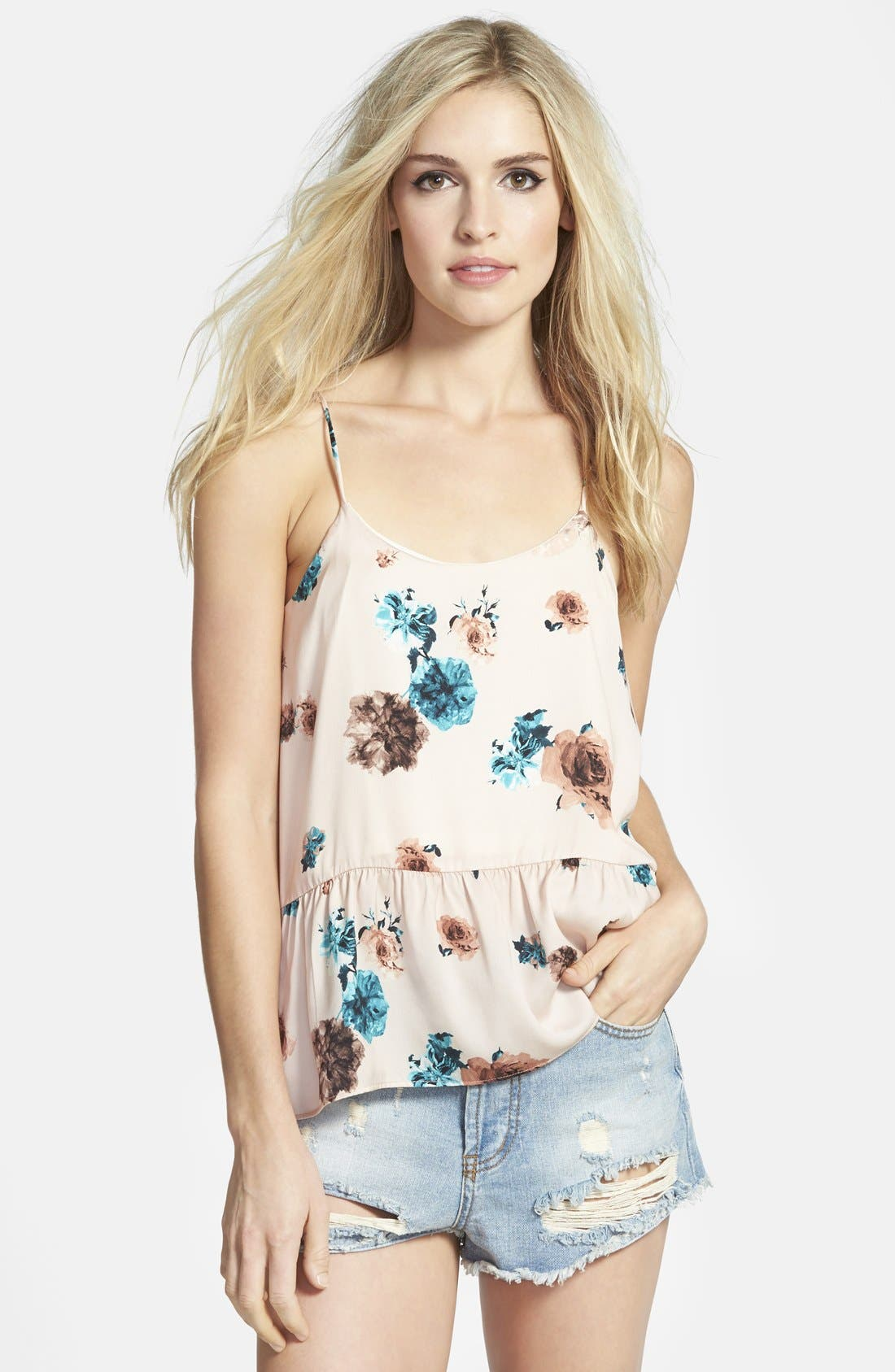 Alternate Image 1 Selected - Maisie Floral Peplum Tank
