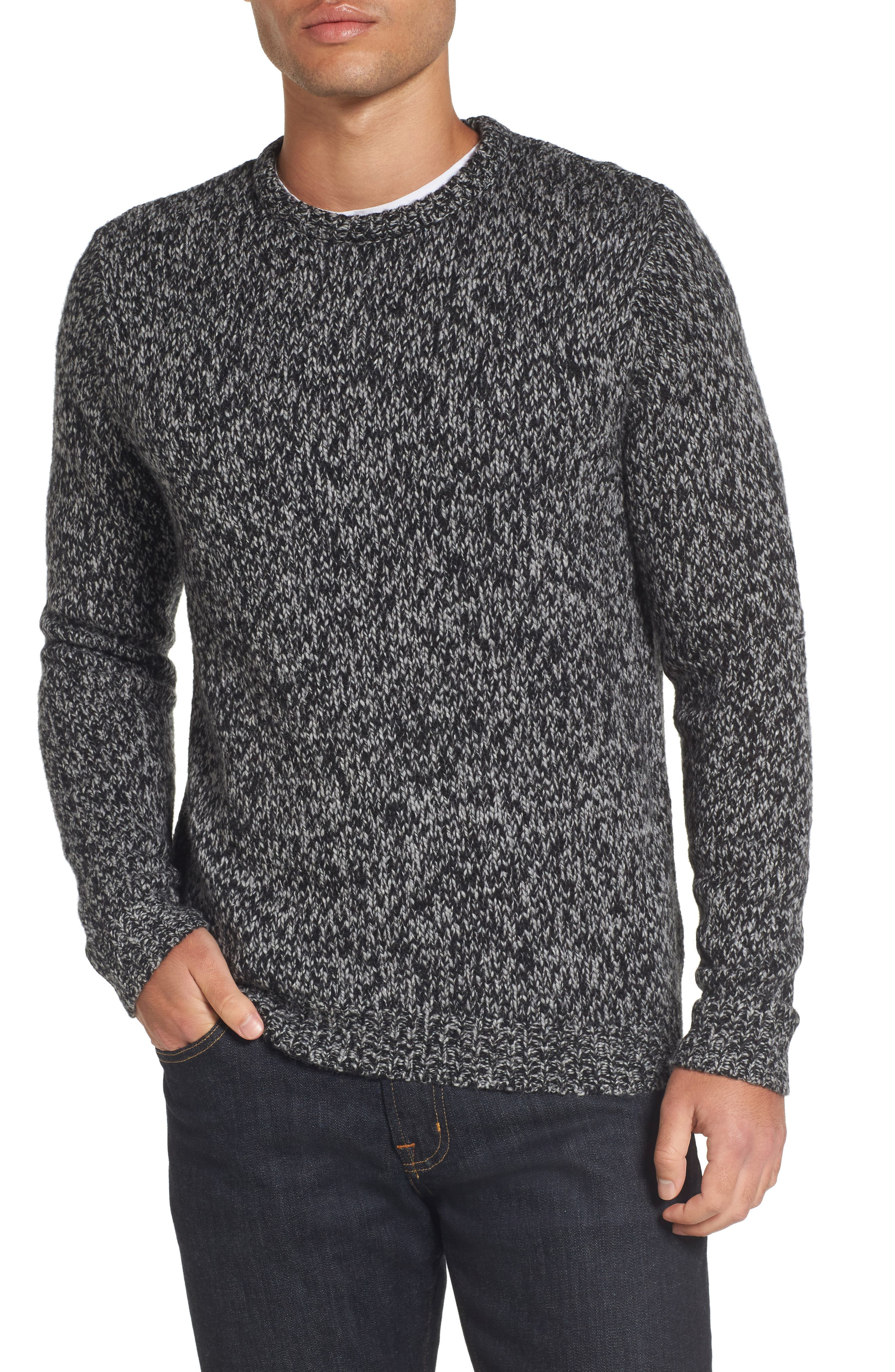 Main Image - Nordstrom Men's Shop Marled Yarn Sweater