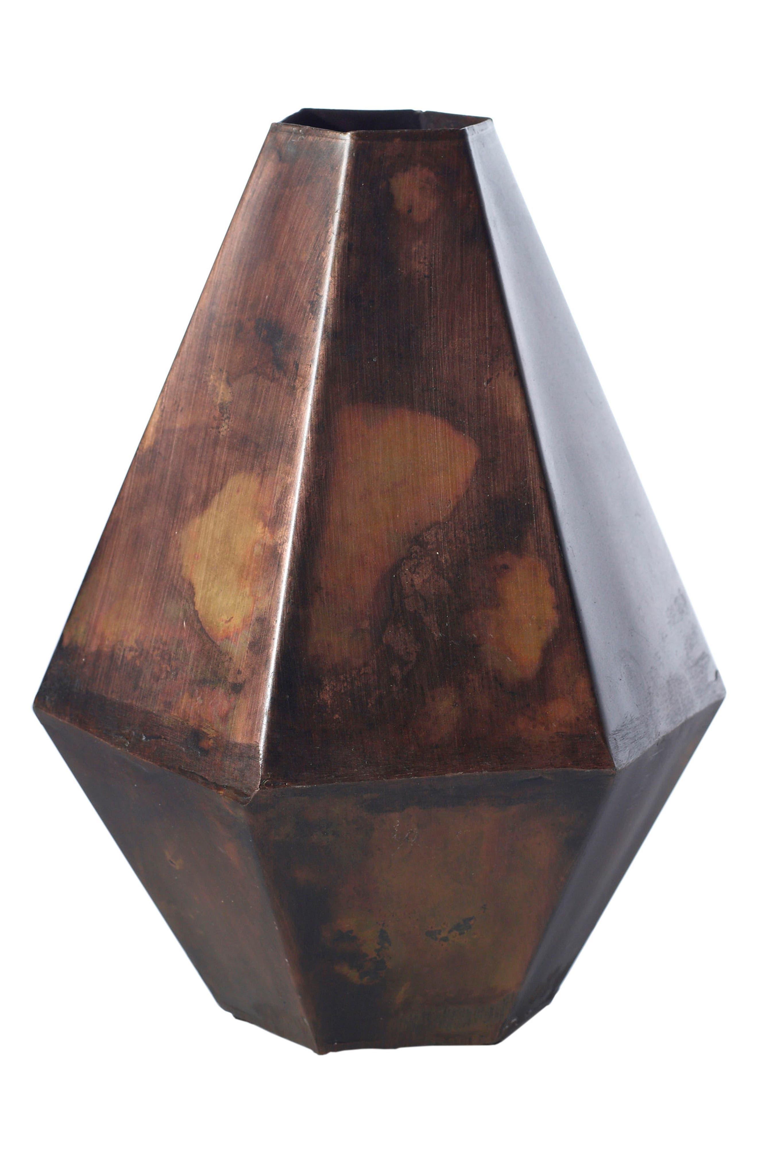 Alternate Image 2  - Accent Decor Copper Finish Bud Vase