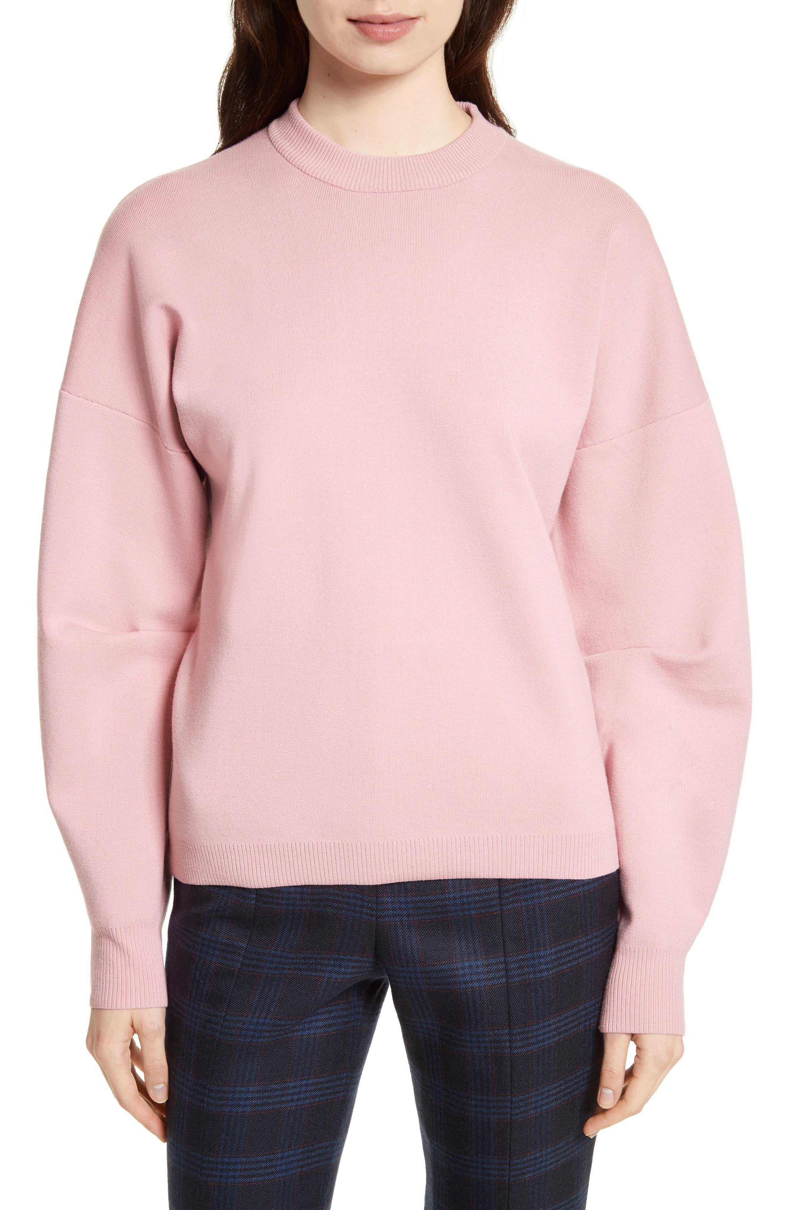 Sculpted Zip Back Pullover,                         Main,                         color, Calla Pink