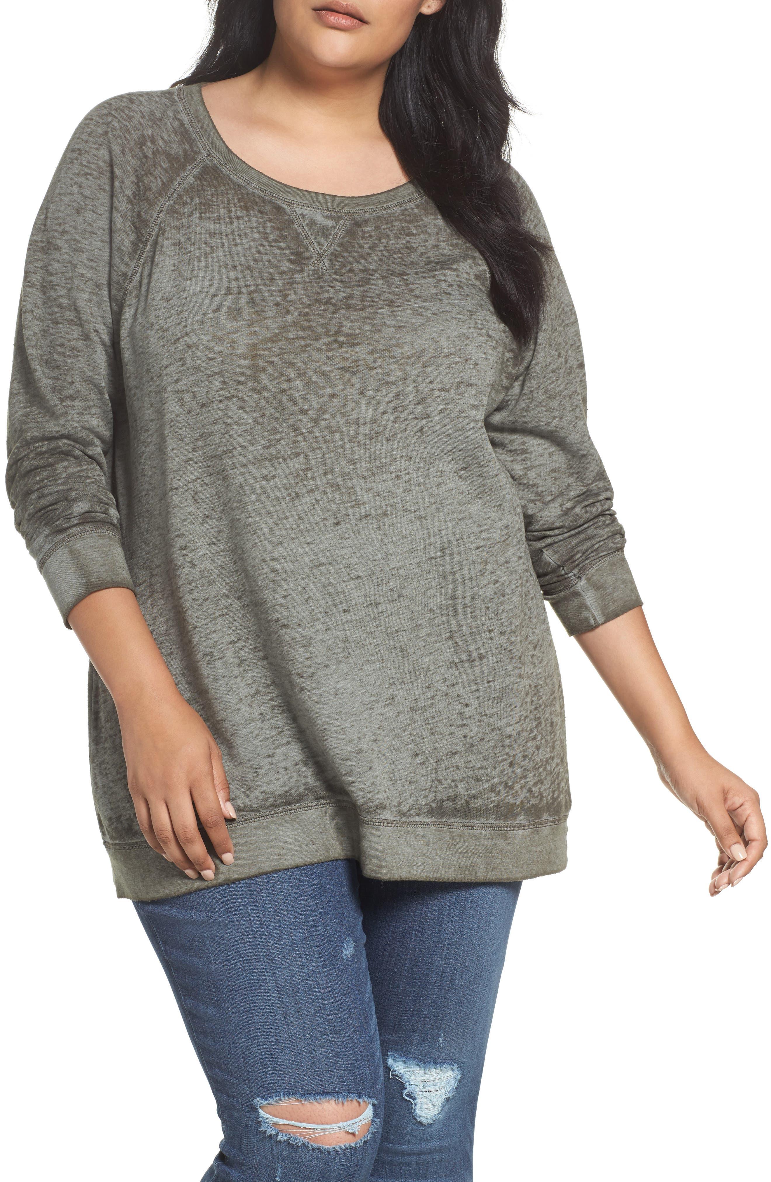 CASLON<SUP>®</SUP> Burnout Sweatshirt