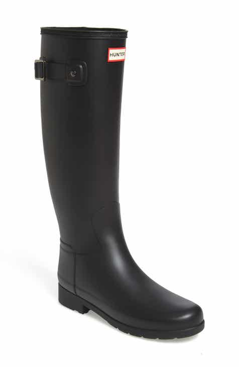 6bf79fdb60a Hunter Original Refined Waterproof Rain Boot (Women) (Regular   Narrow Calf)