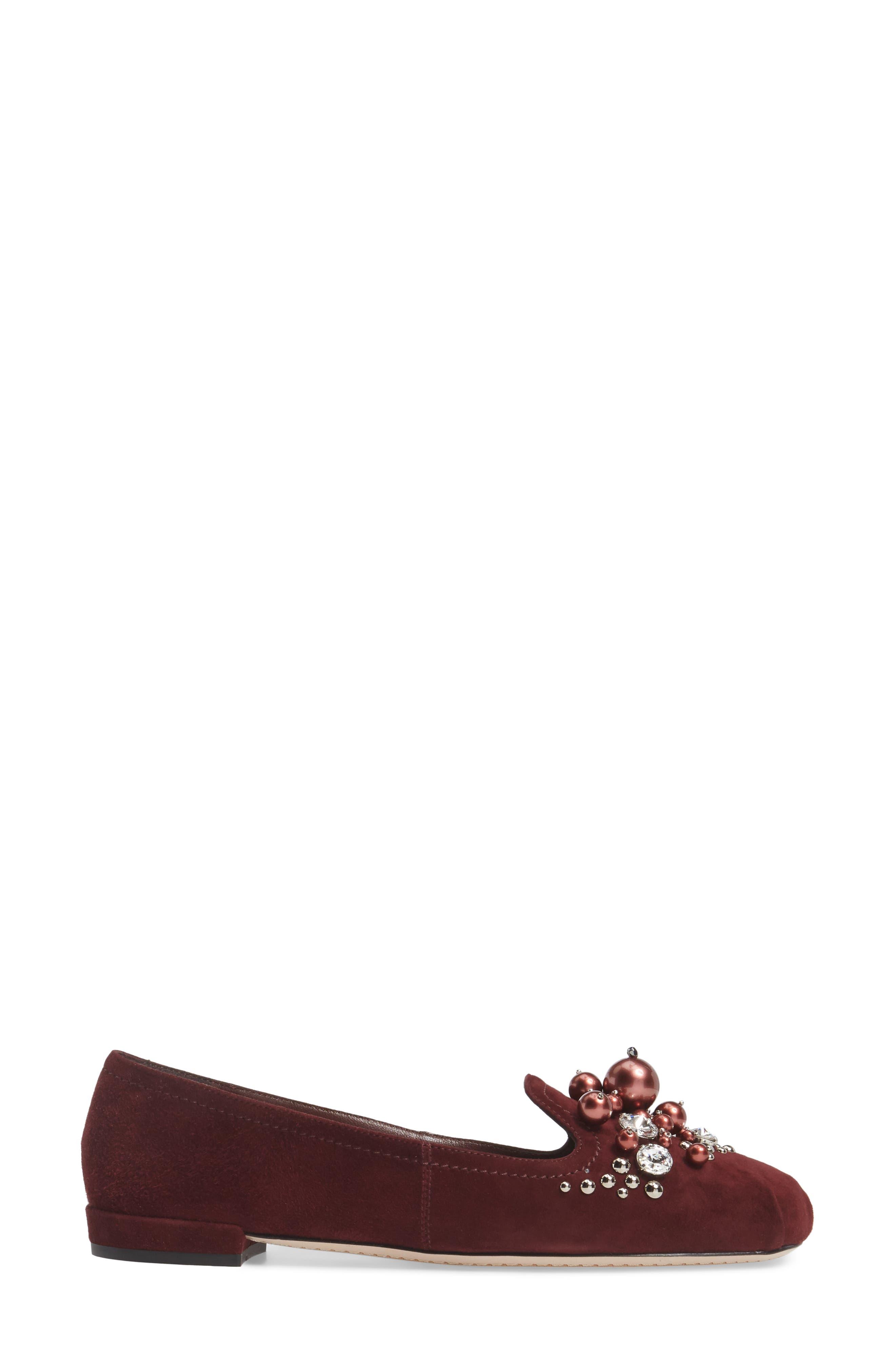 Alternate Image 3  - Miu Miu Embellished Loafer (Women)