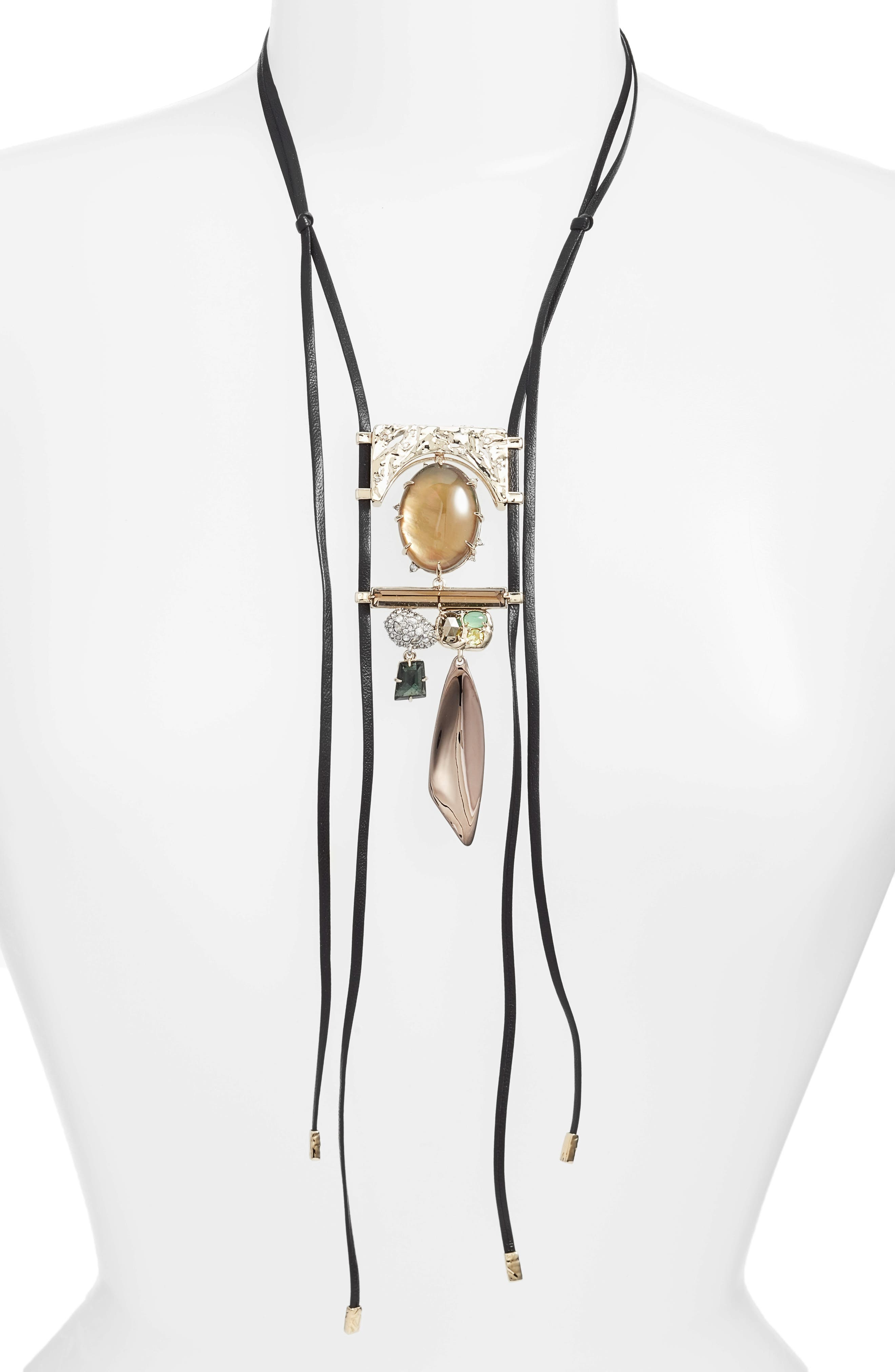 Elements Jewel Necklace,                         Main,                         color, Gold/Chocolate