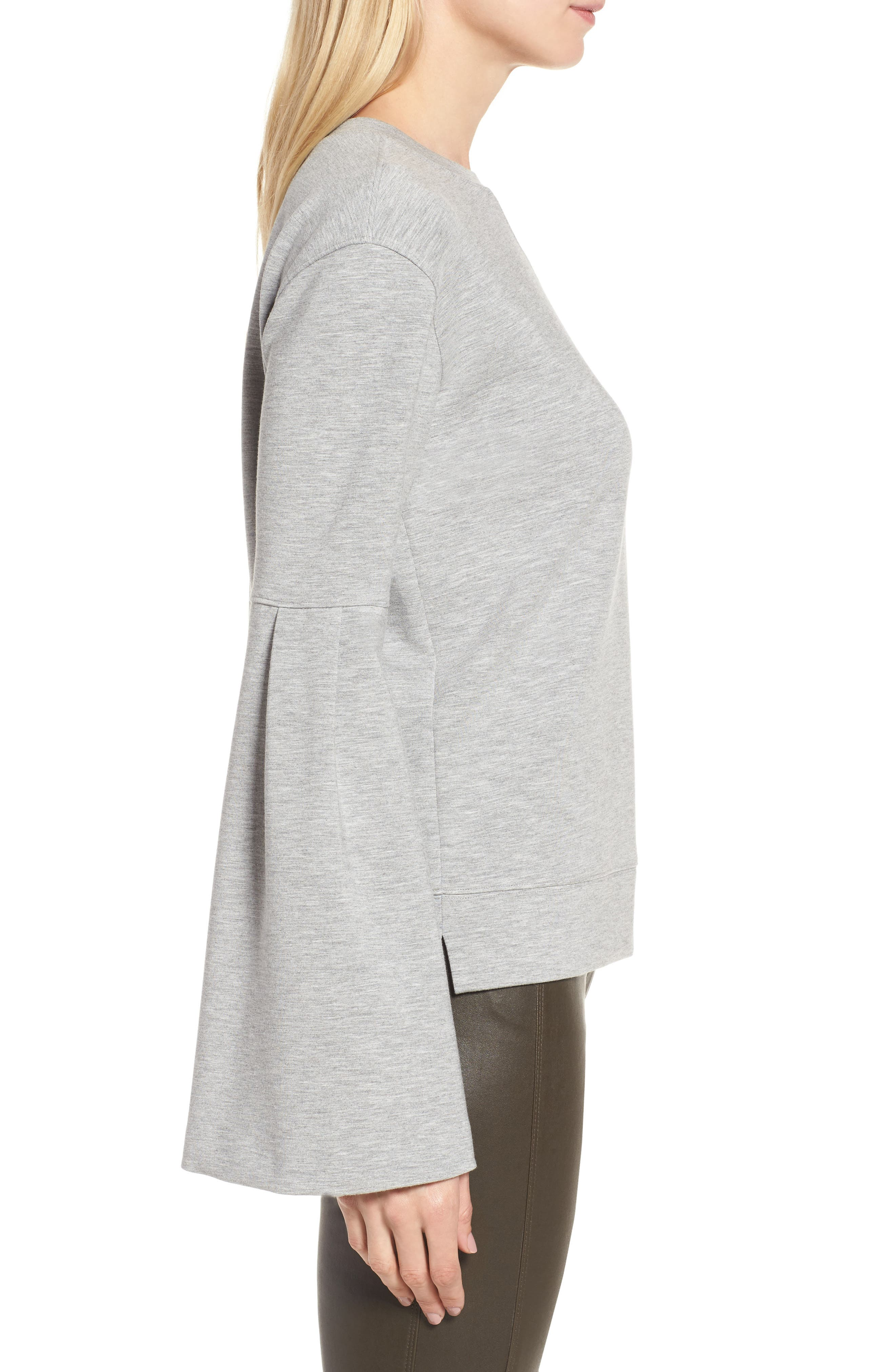 Alternate Image 3  - Nordstrom Signature Bell Sleeve Sweatshirt