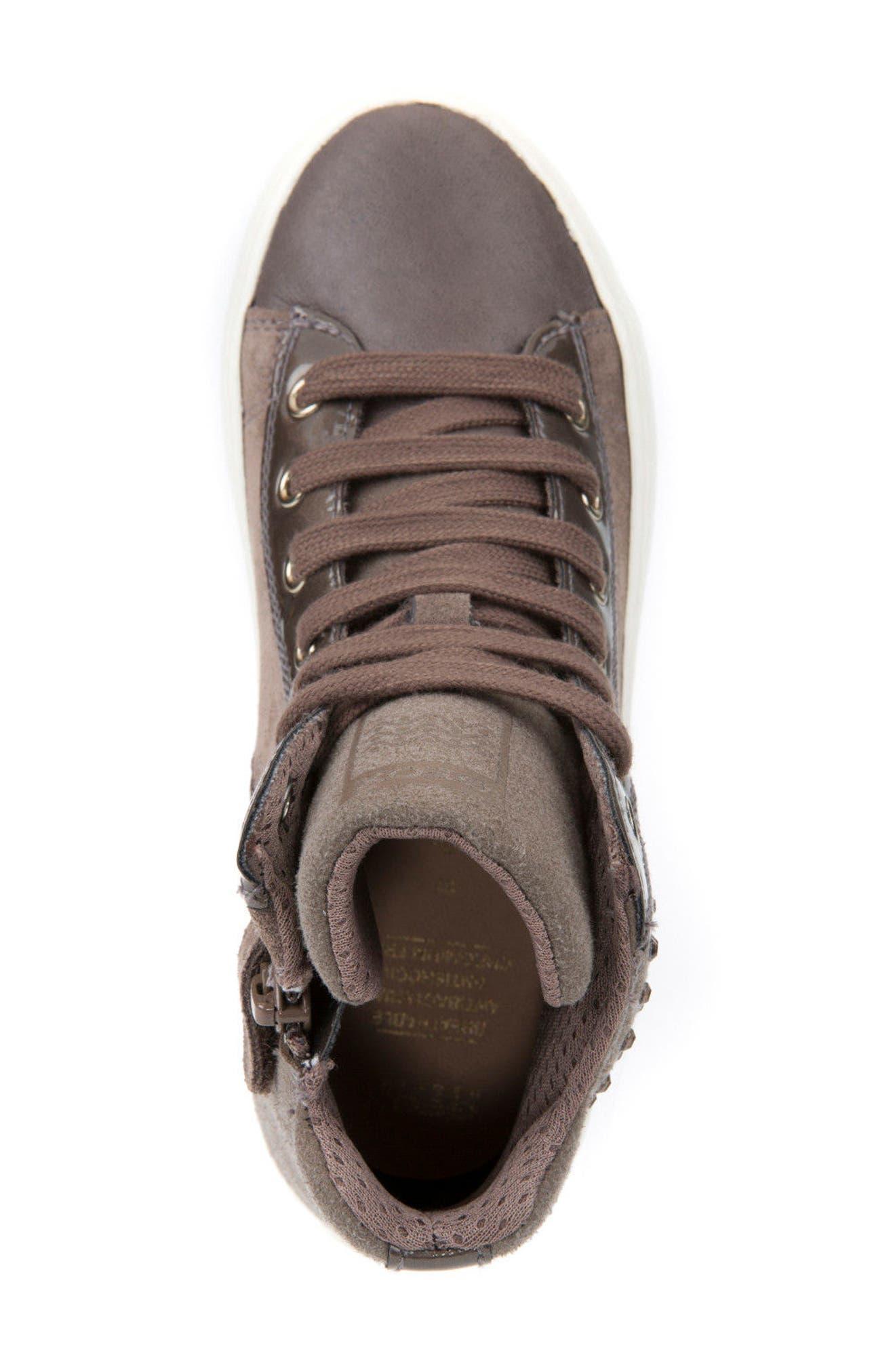 Kalispera Girl Embellished High Top Sneaker,                             Alternate thumbnail 6, color,                             Dark Beige
