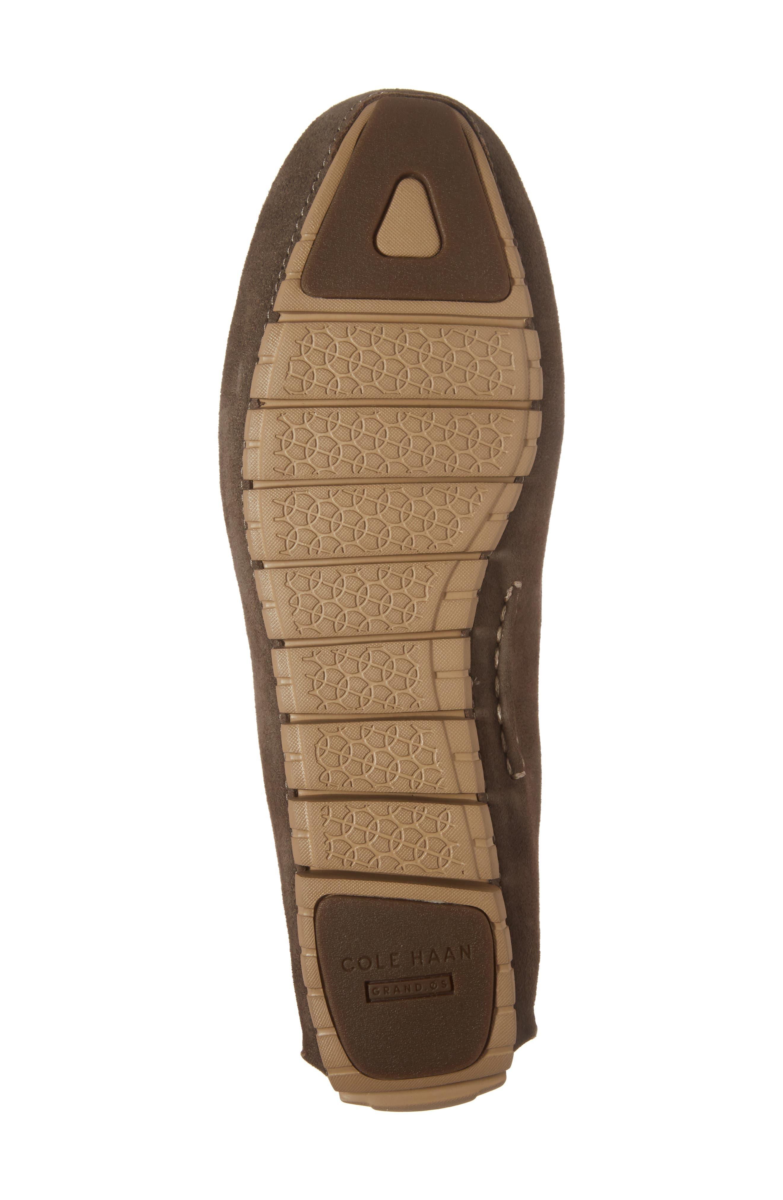 Zero Grand Moc Driving Loafer,                             Alternate thumbnail 6, color,                             Morel Leather