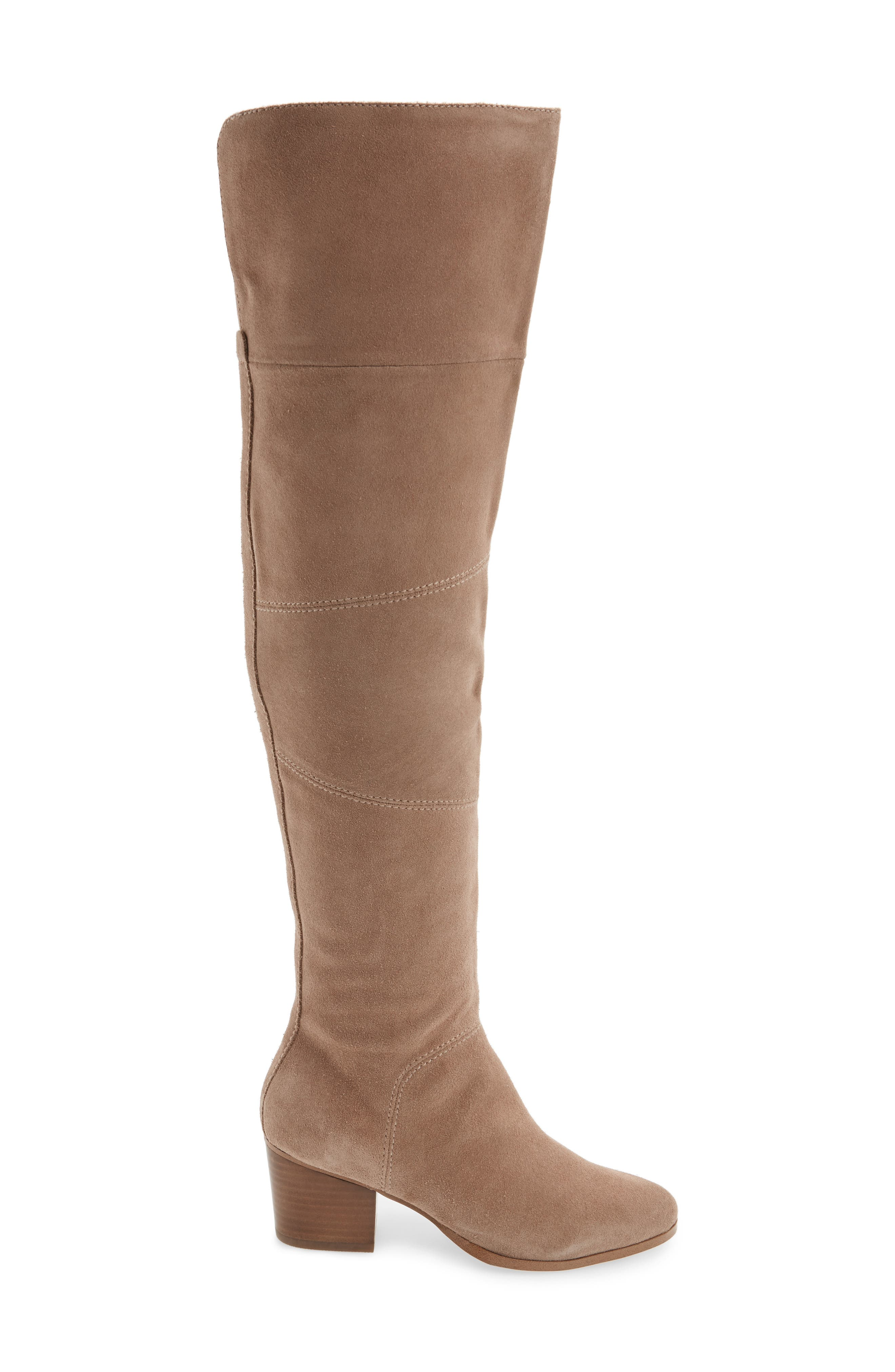 Melbourne Over the Knee Boot,                             Alternate thumbnail 3, color,                             Night Taupe Suede