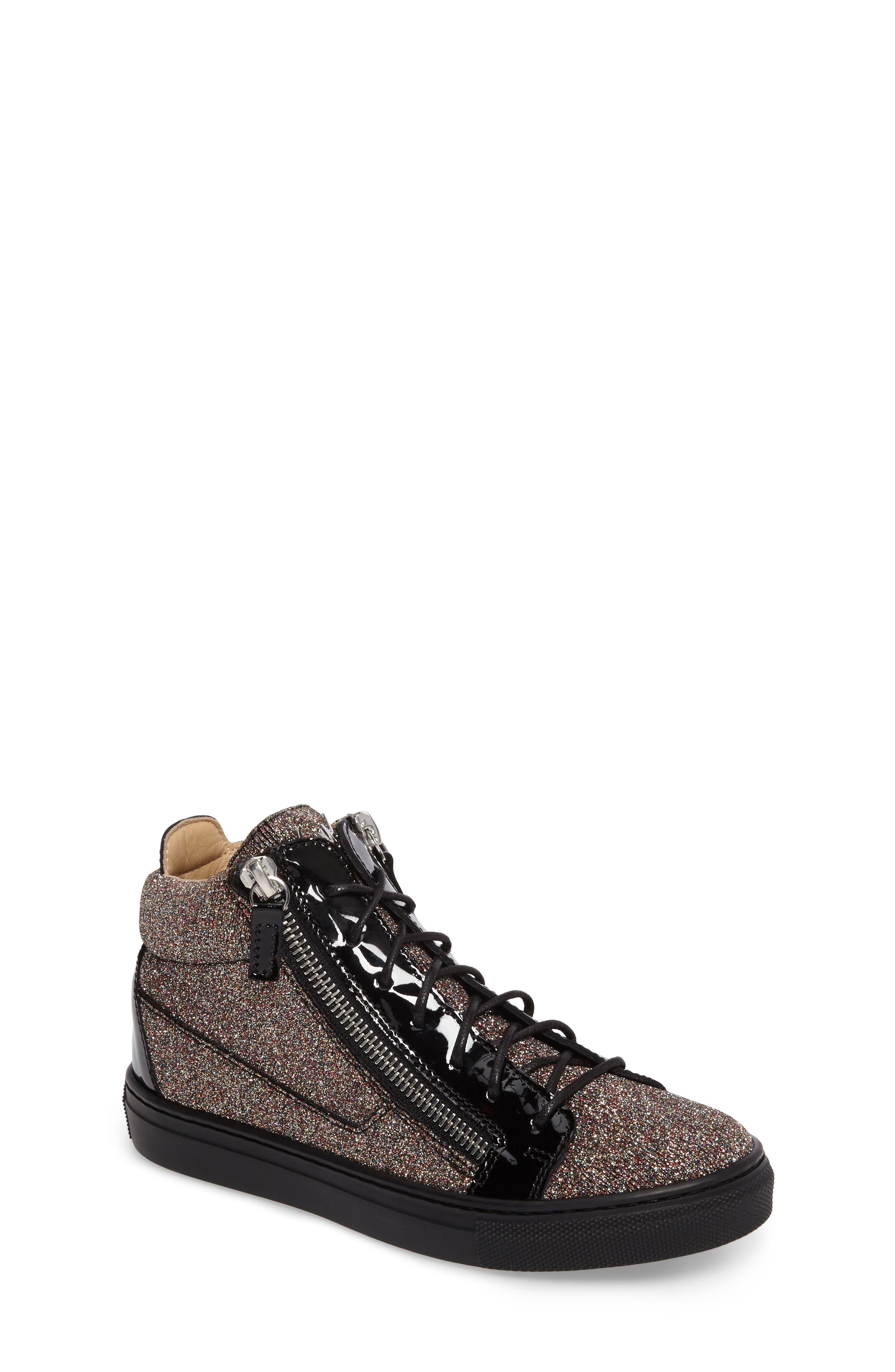 Giuseppe Zanotti Natalie High Top Sneaker (Baby, Walker, Toddler & Little Kid)