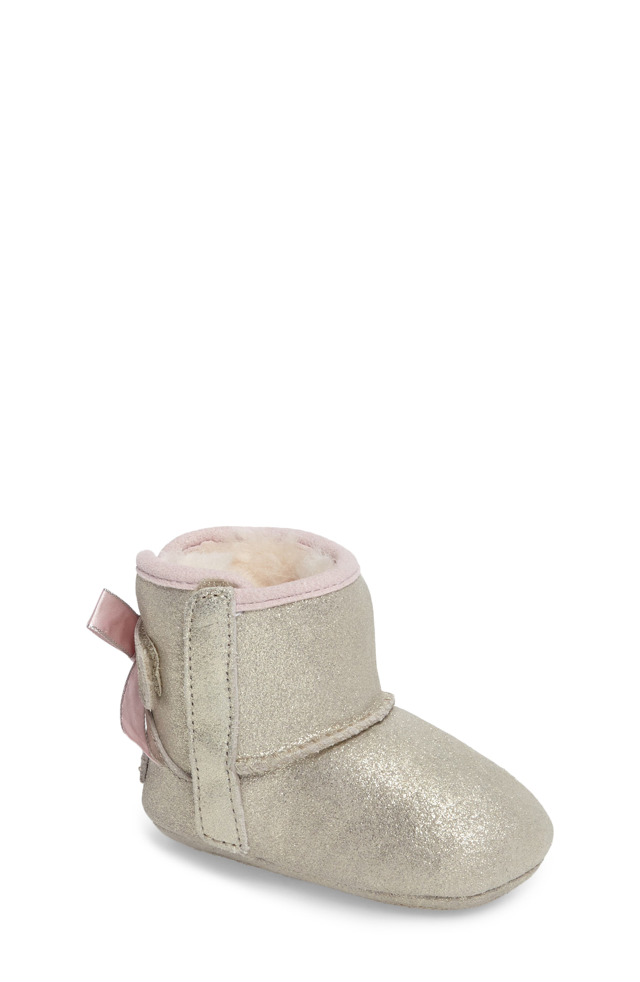 Jesse Bow II Metallic Bootie,                             Main thumbnail 1, color,                             Gold