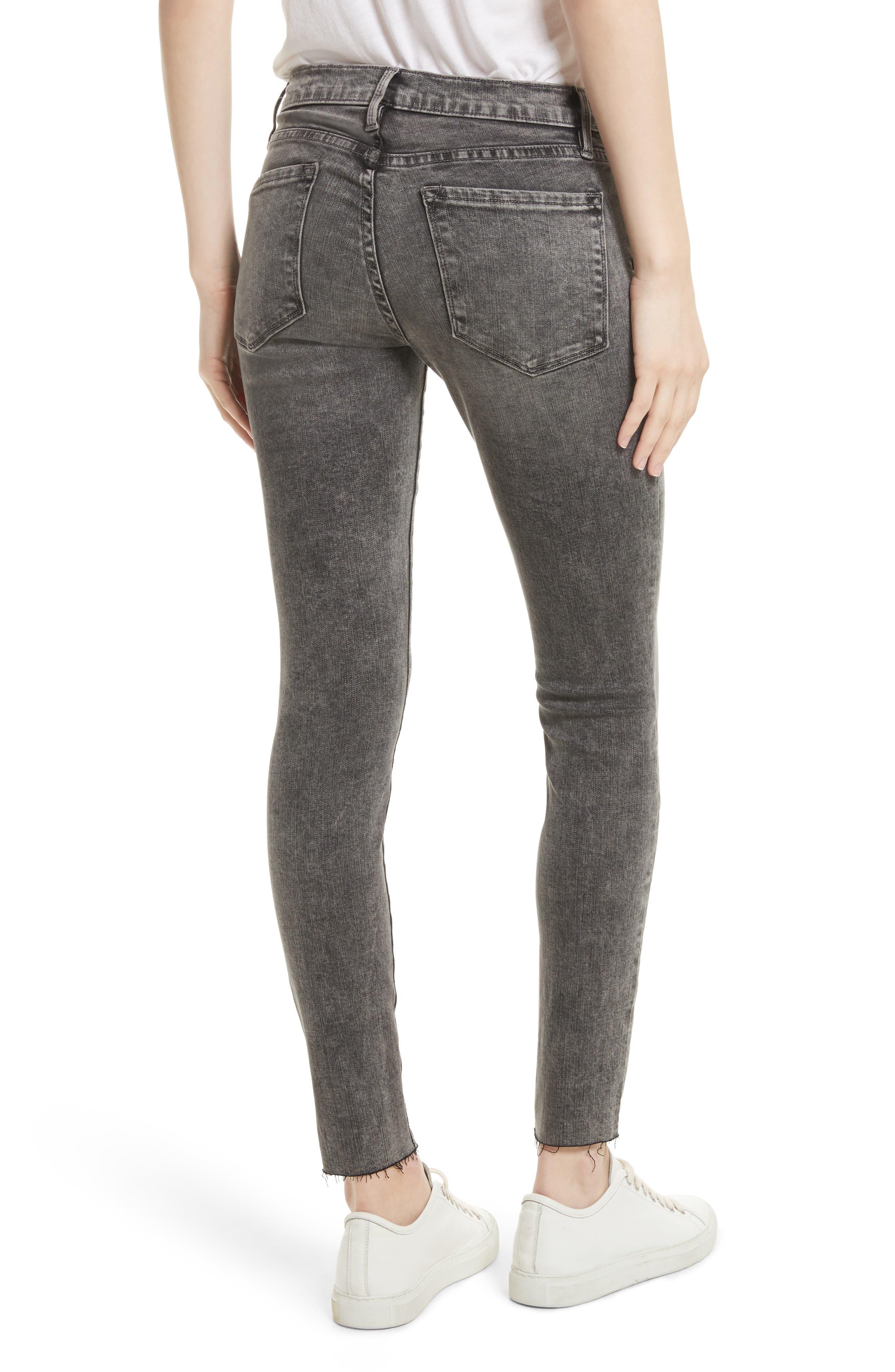 Alternate Image 3  - FRAME Le Skinny de Jeanne Raw Edge Skinny Jeans (Bennington)
