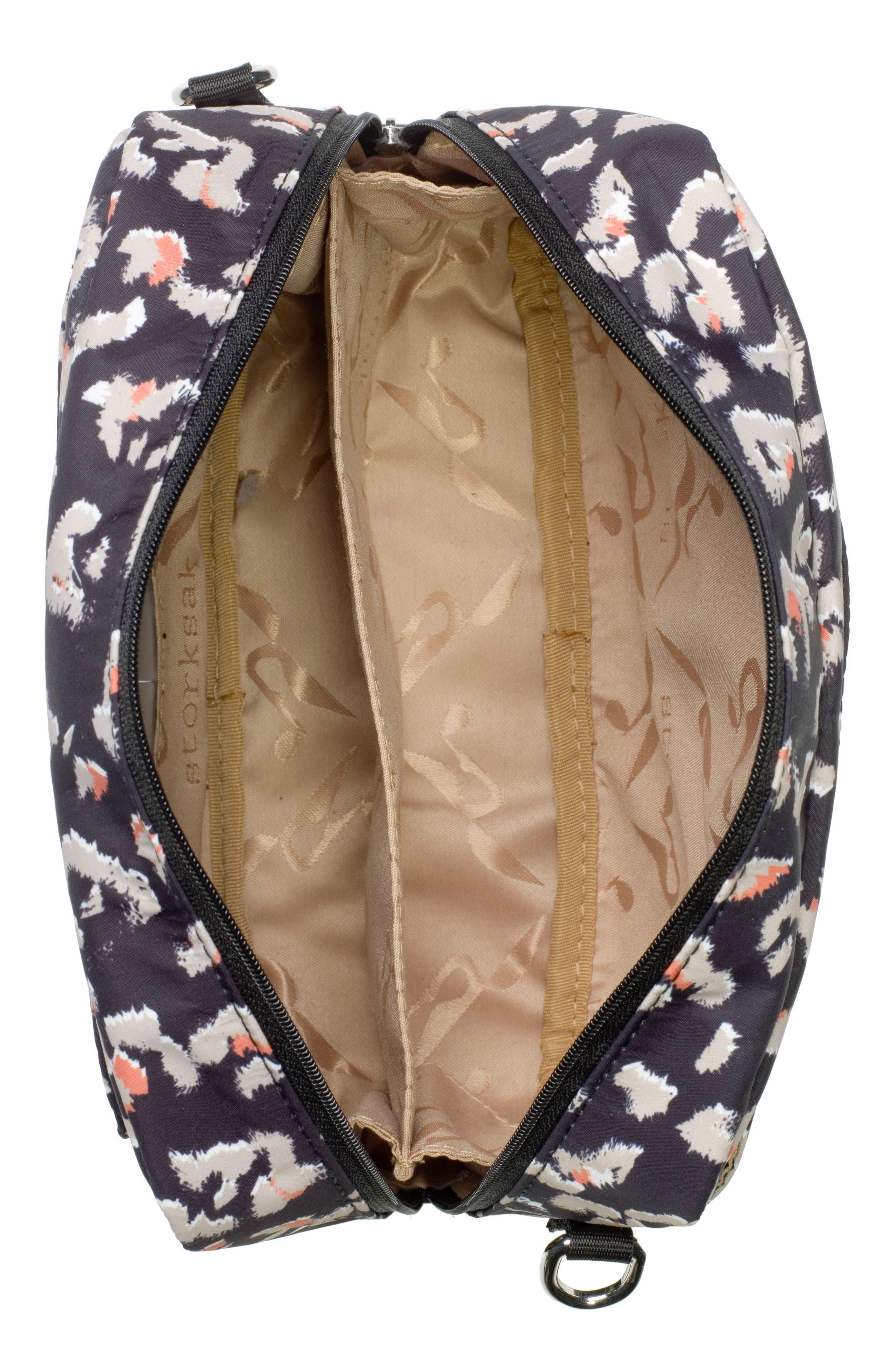 Mini Fix Crossbody Diaper Bag,                             Alternate thumbnail 3, color,                             Leopard