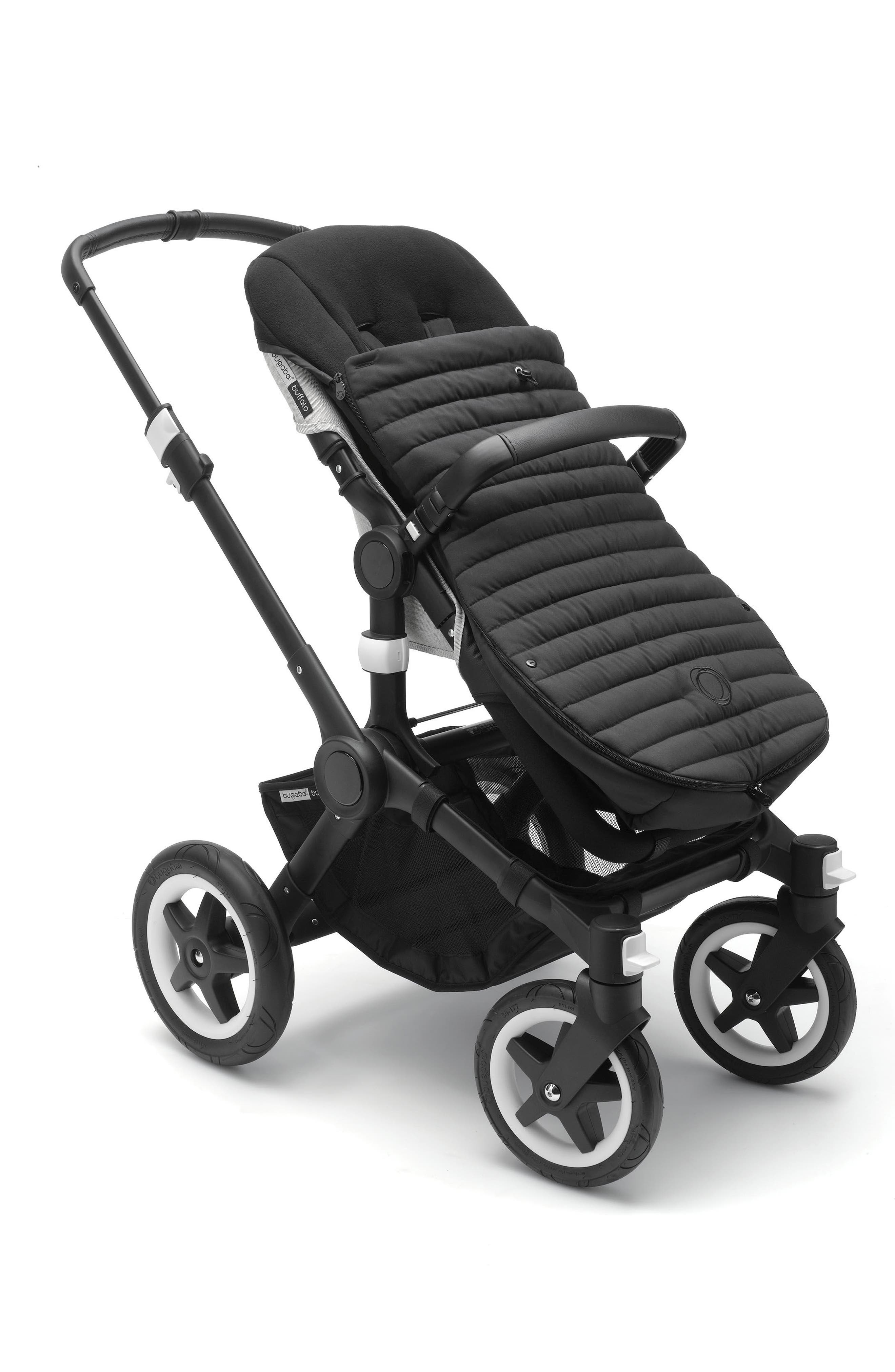 Atelier Collection Stroller Footmuff,                             Alternate thumbnail 3, color,                             Black