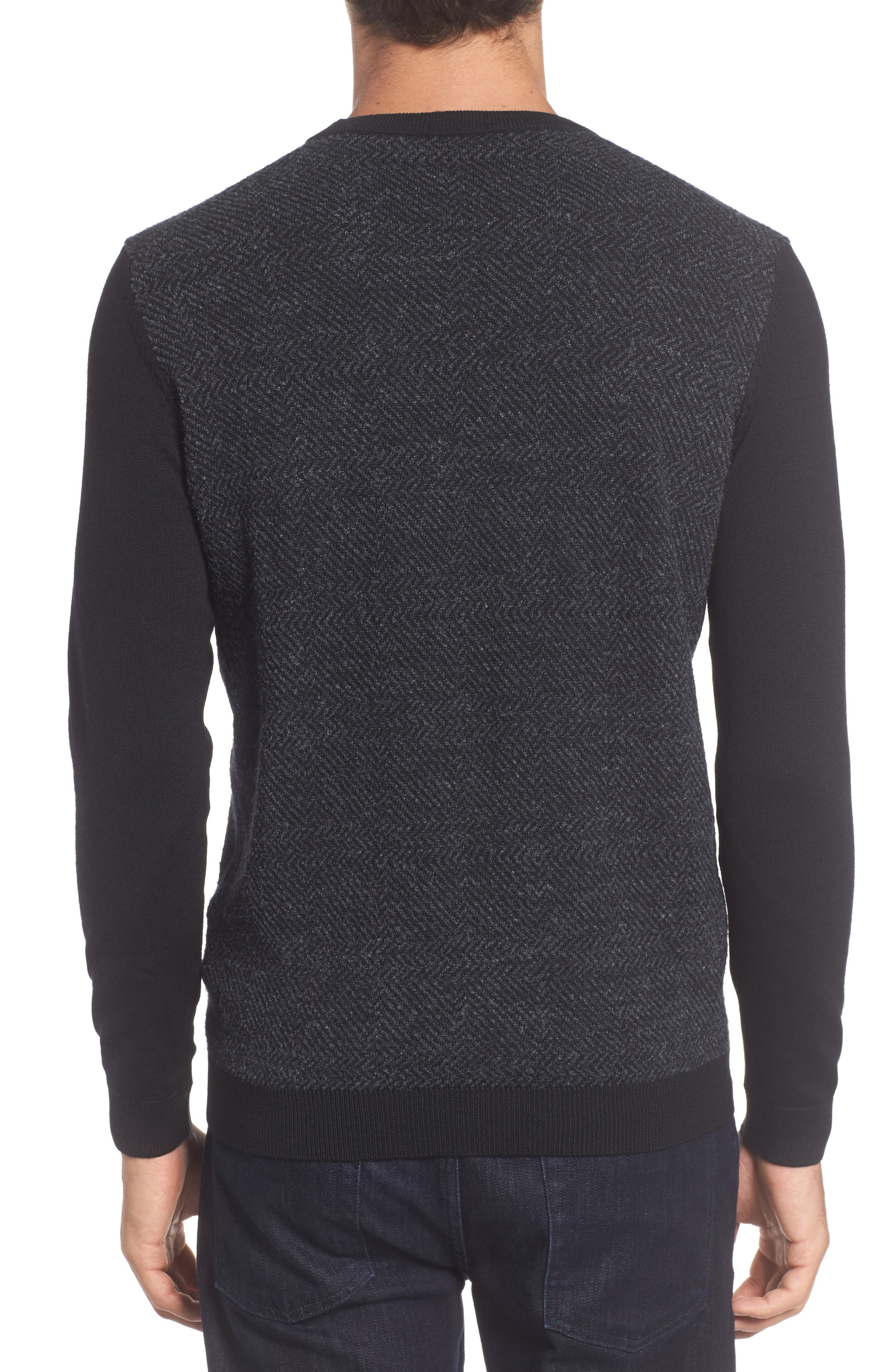 Notto Wool Blend Sweater,                             Alternate thumbnail 2, color,                             Black