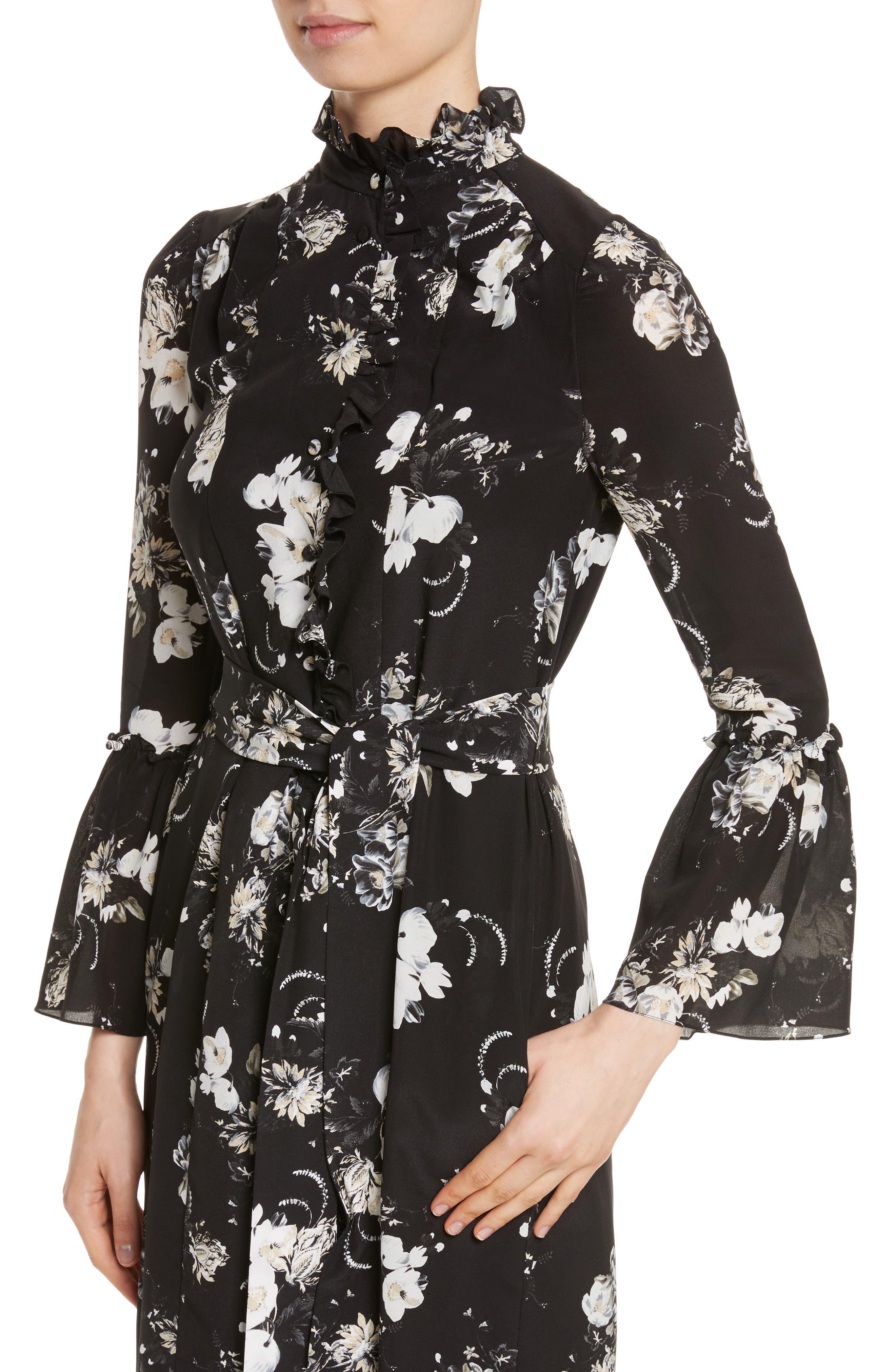 Alternate Image 4  - Erdem Floral Silk Ruffle Dress
