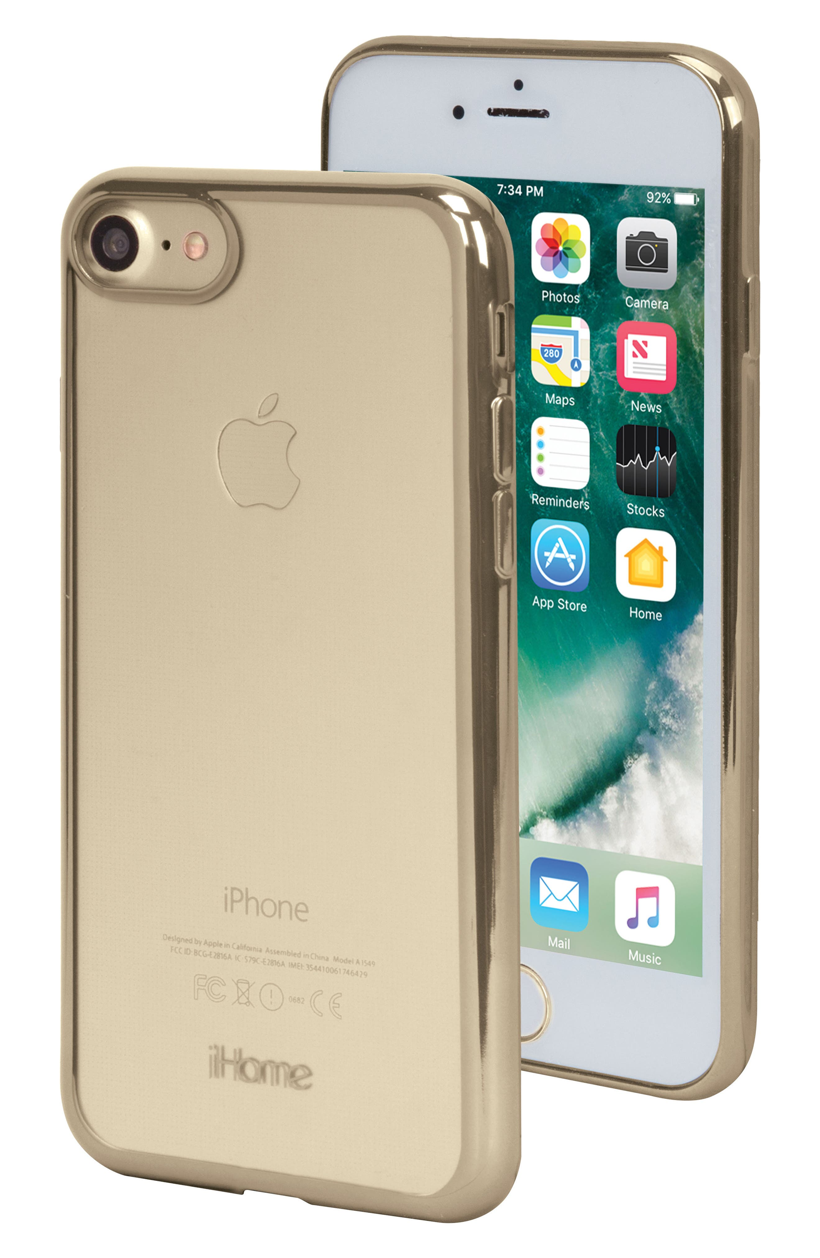 Lux iPhone 7/8 Case,                         Main,                         color, Gold