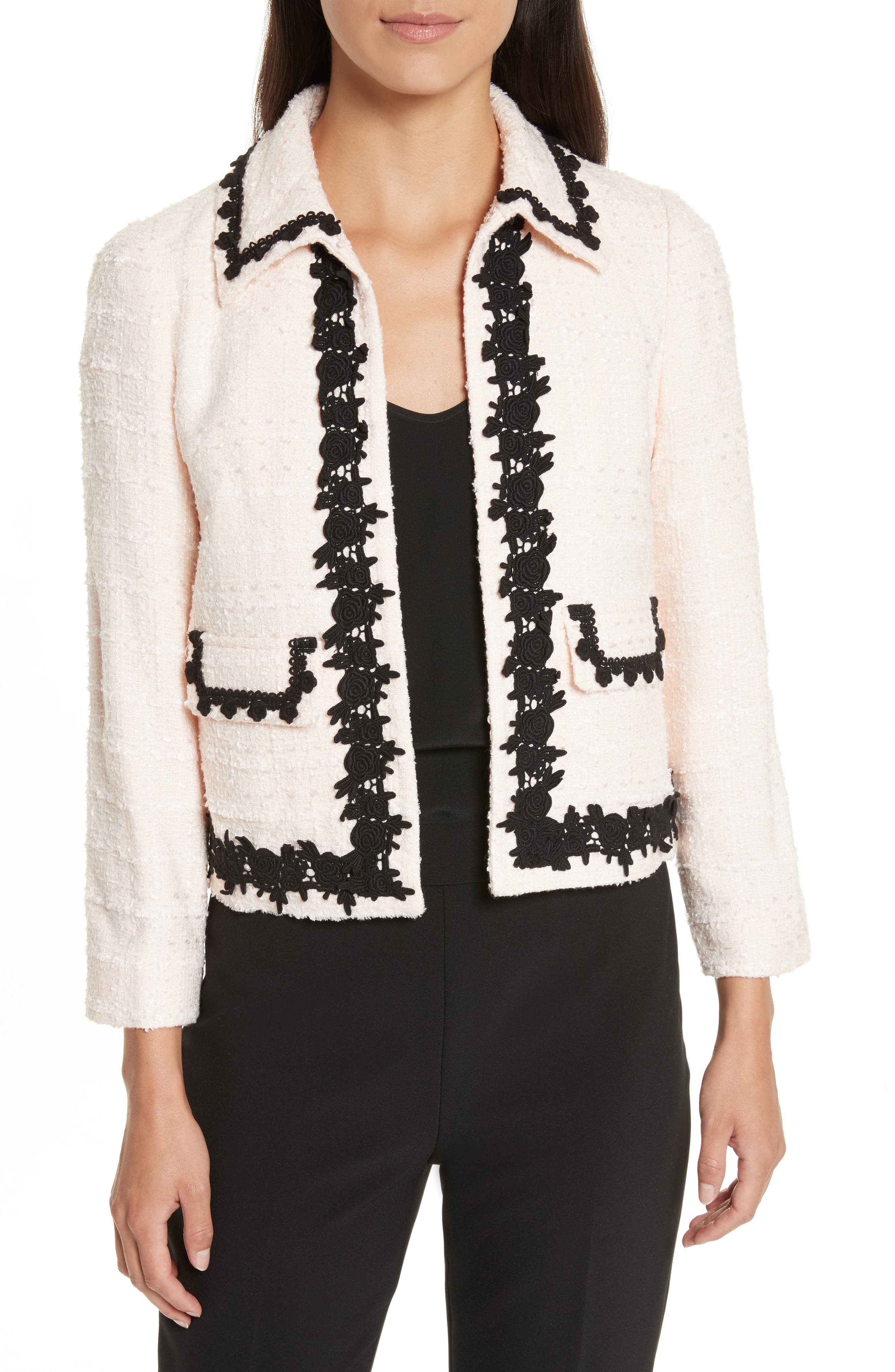 kate spade new york reagan embellished bouclé jacket