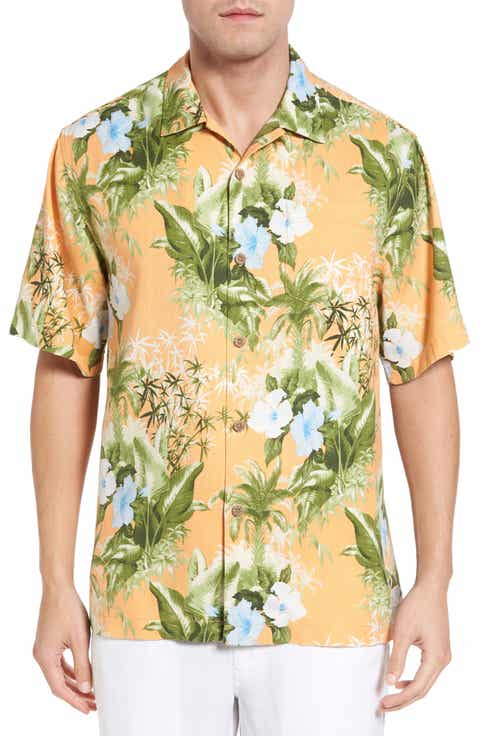 Shirts for men men 39 s silk shirts nordstrom nordstrom for Tommy bahama catalina twill silk camp shirt