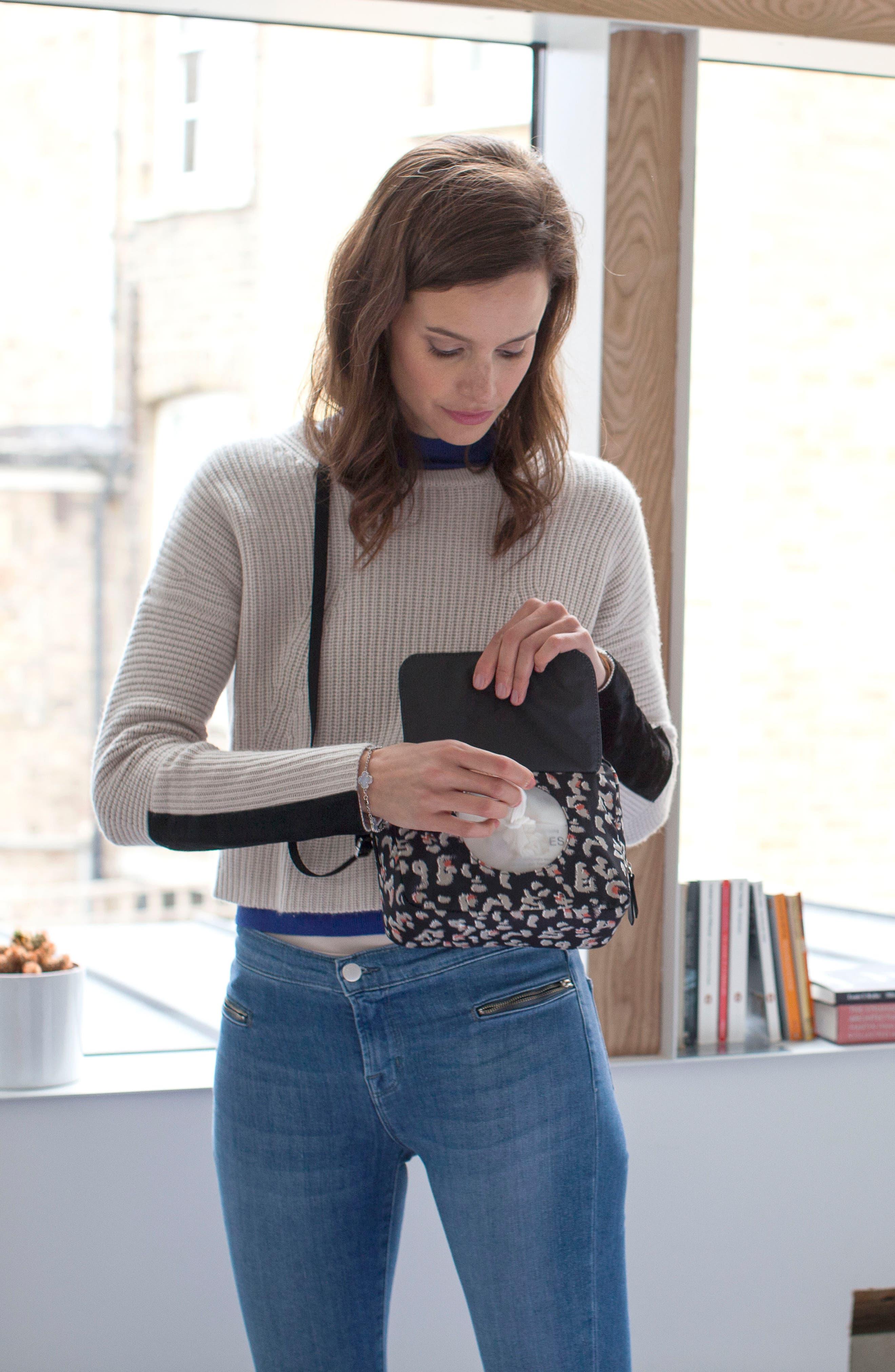 Mini Fix Crossbody Diaper Bag,                             Alternate thumbnail 8, color,                             Leopard