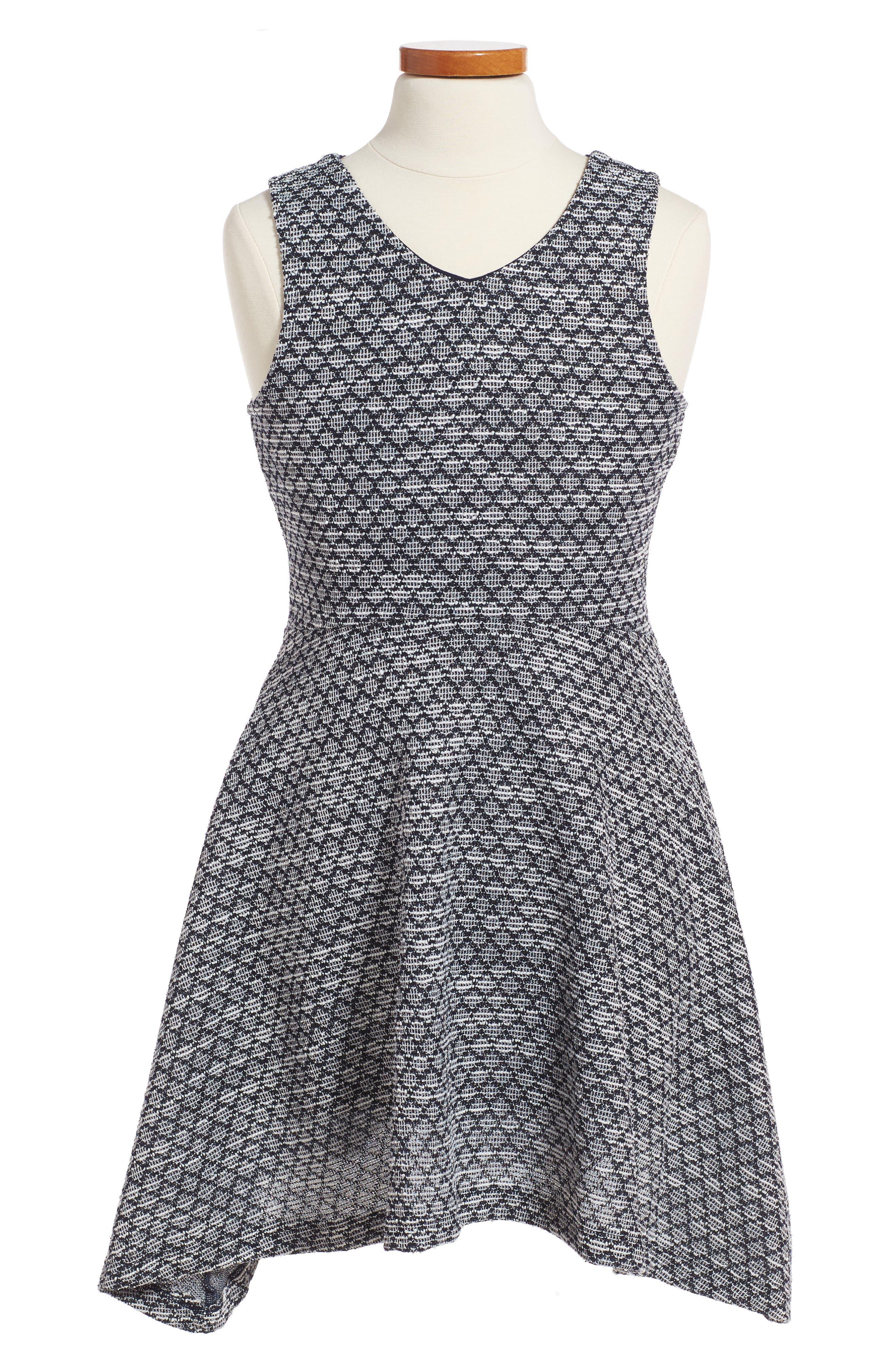 Lolita Sleeveless Skater Dress,                         Main,                         color, Navy