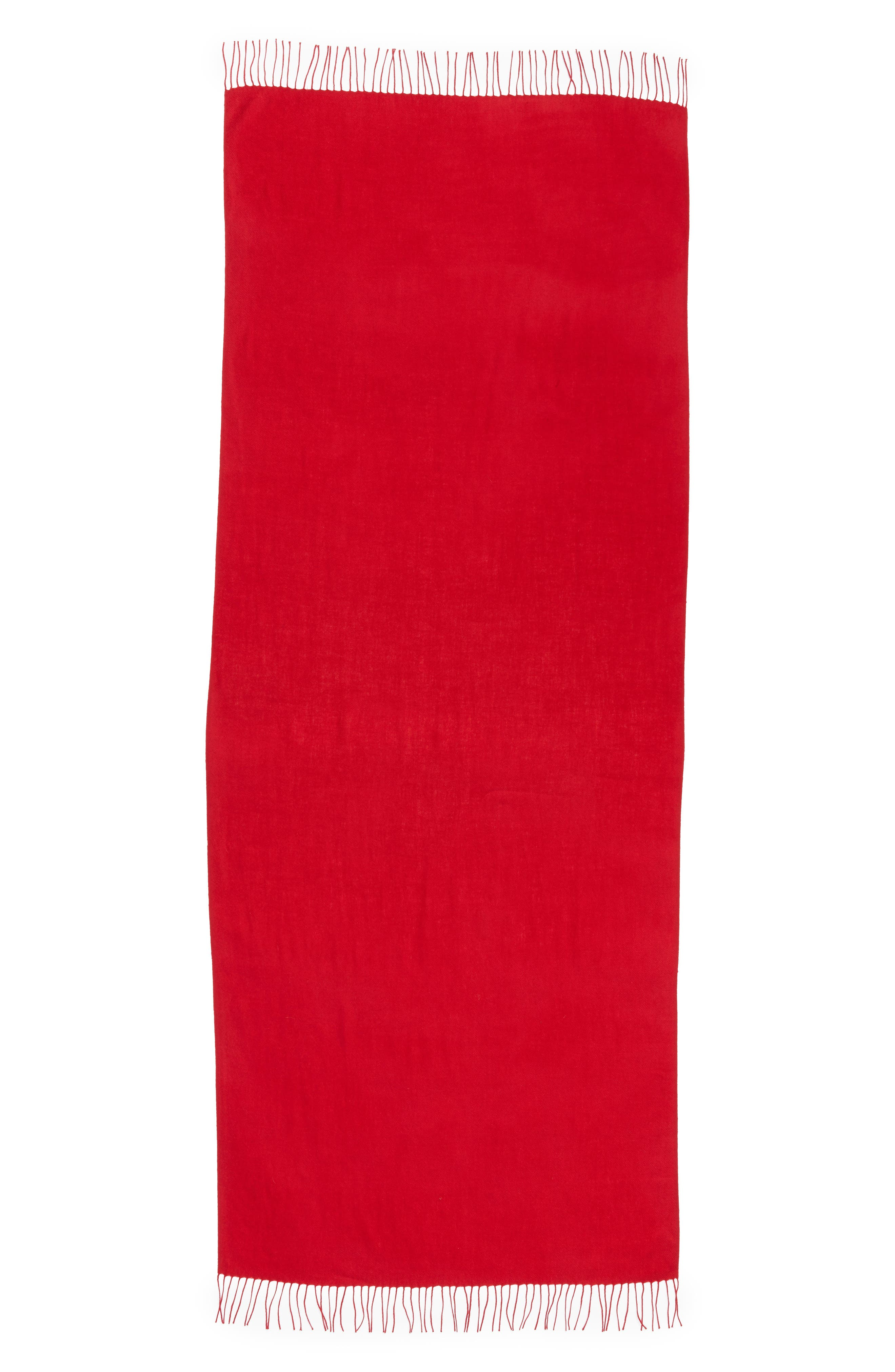 Alternate Image 2  - Nordstrom Tissue Weight Wool &Cashmere Scarf