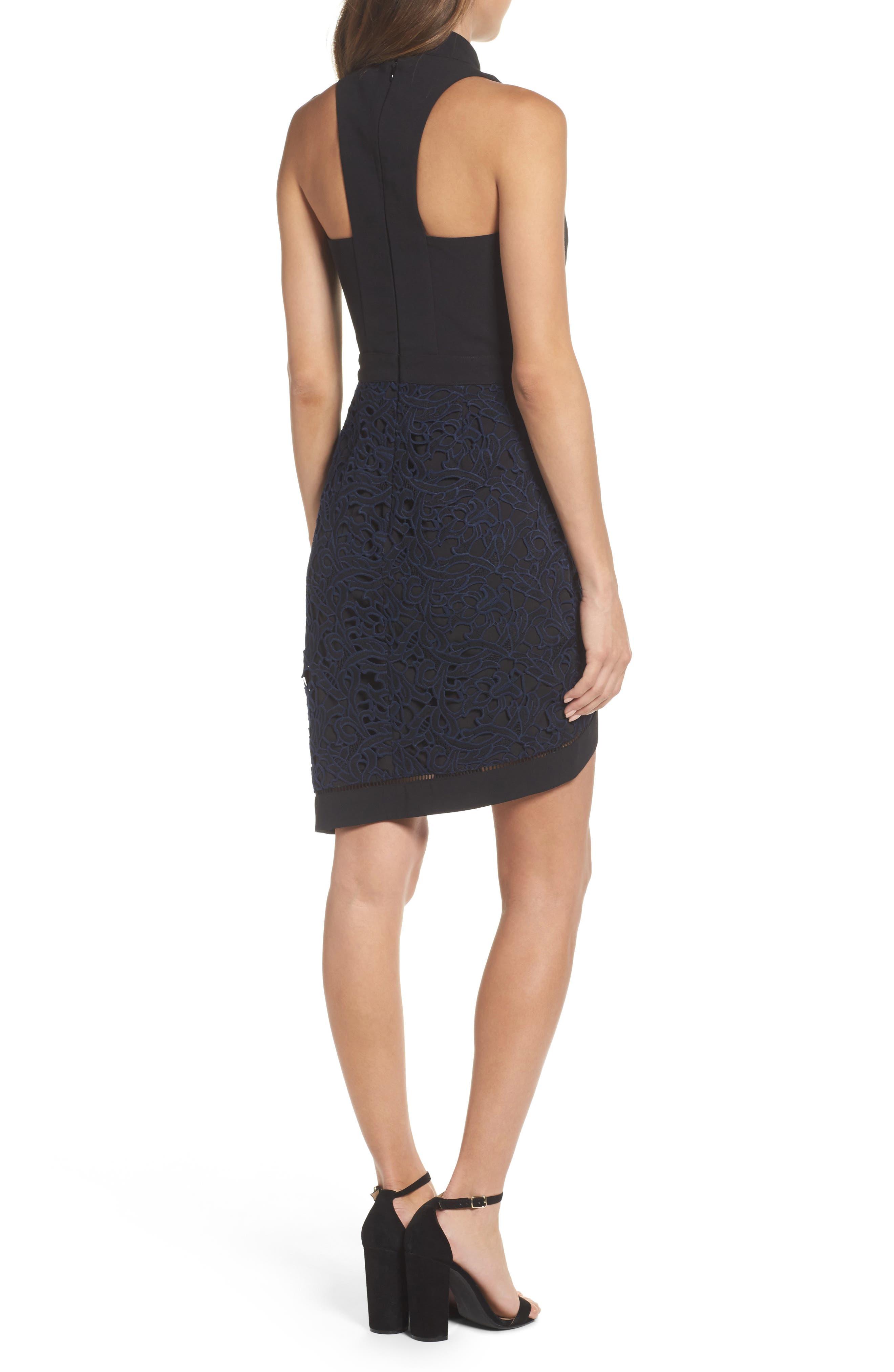 Alternate Image 2  - Adelyn Rae Choker Sheath Dress