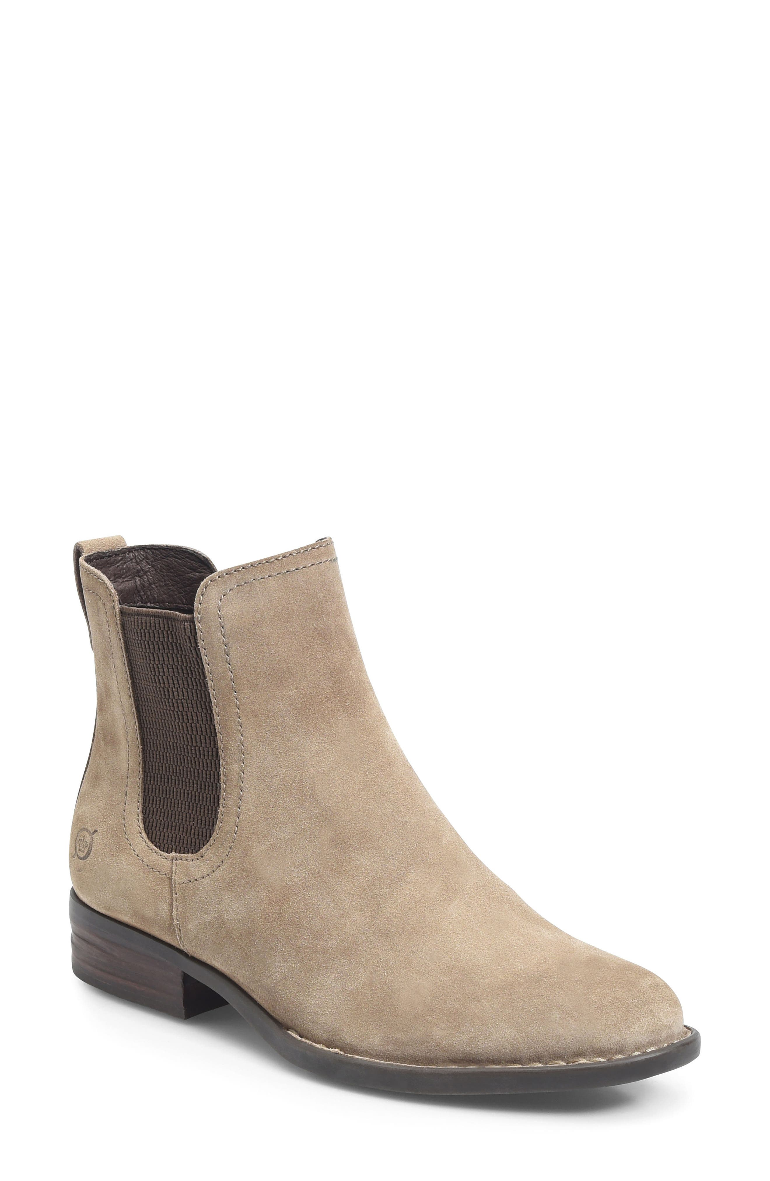 Casco Chelsea Boot,                             Main thumbnail 1, color,                             Taupe Suede