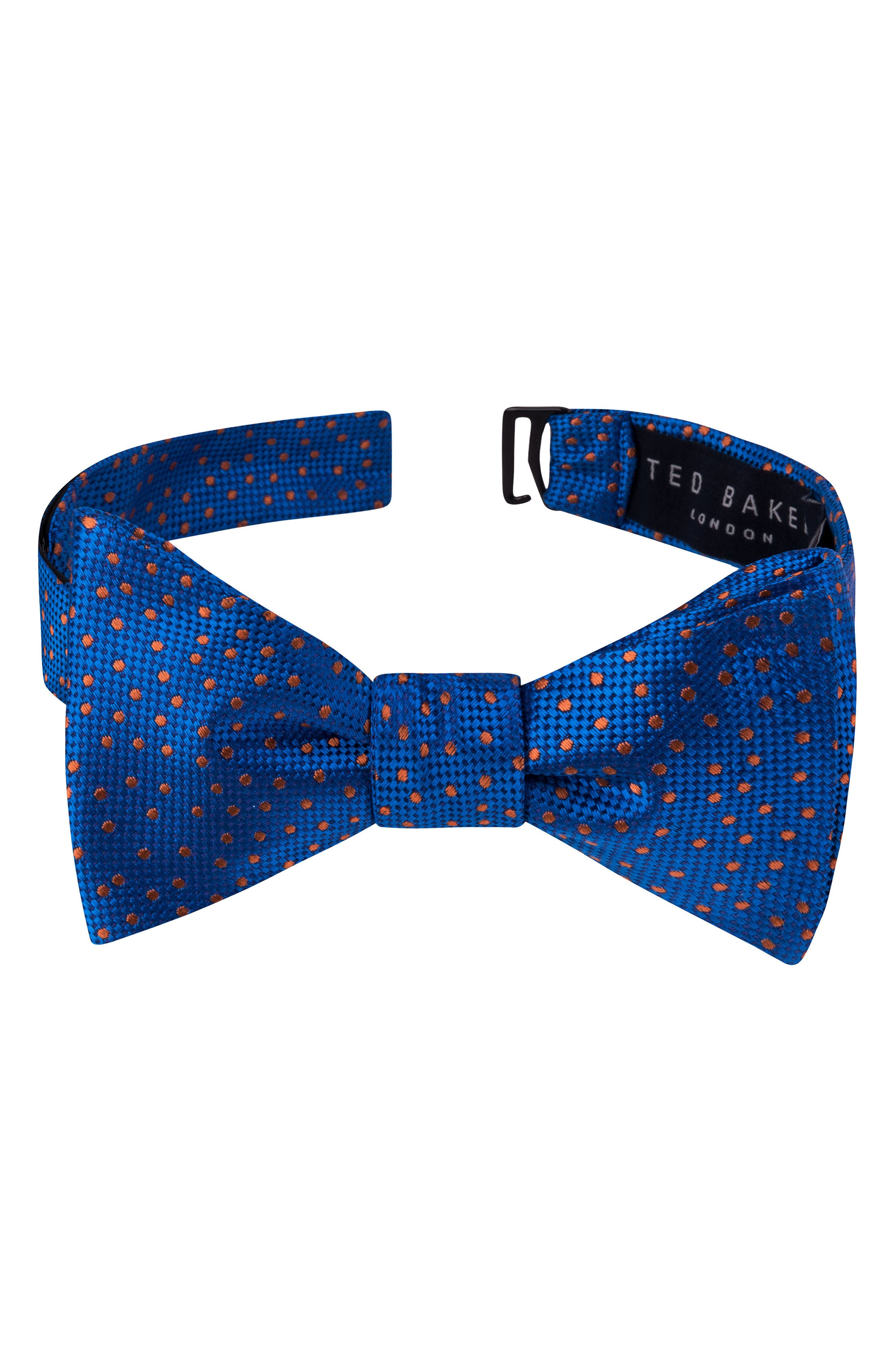 Jacquard Micro Dot Silk Bow Tie,                             Main thumbnail 1, color,                             Blue