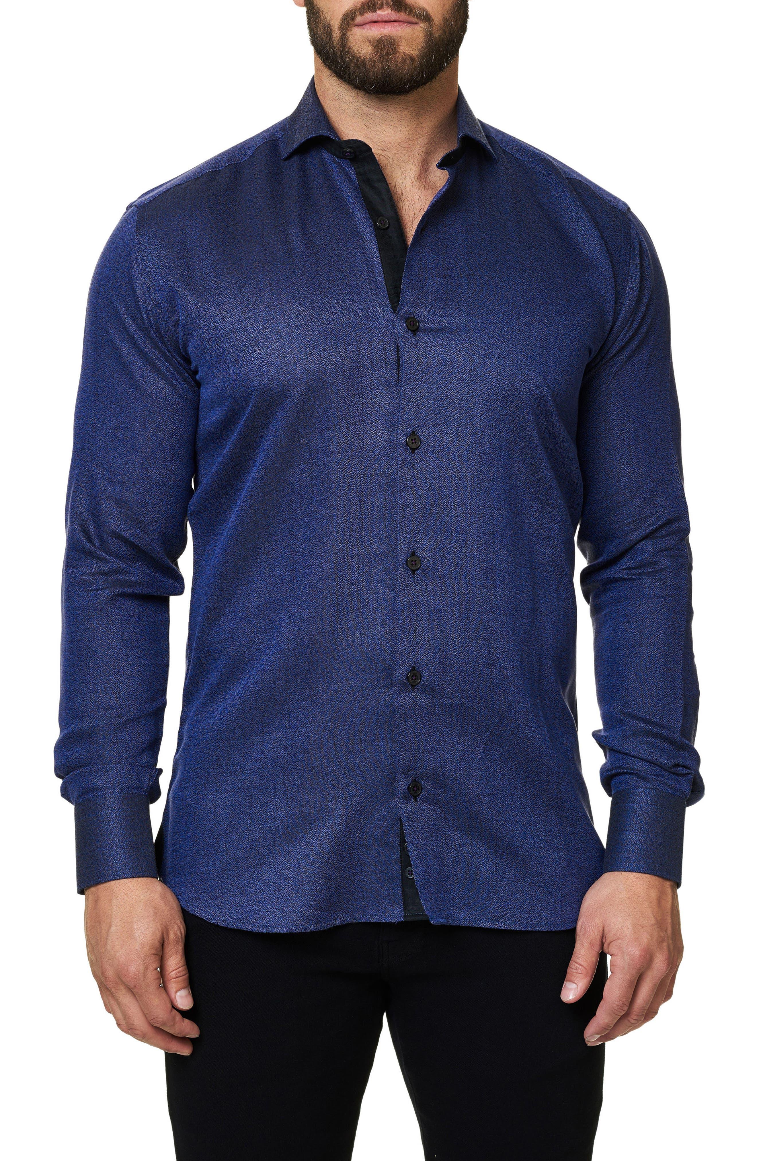 Trim Fit Sport Shirt,                             Main thumbnail 1, color,                             Purple