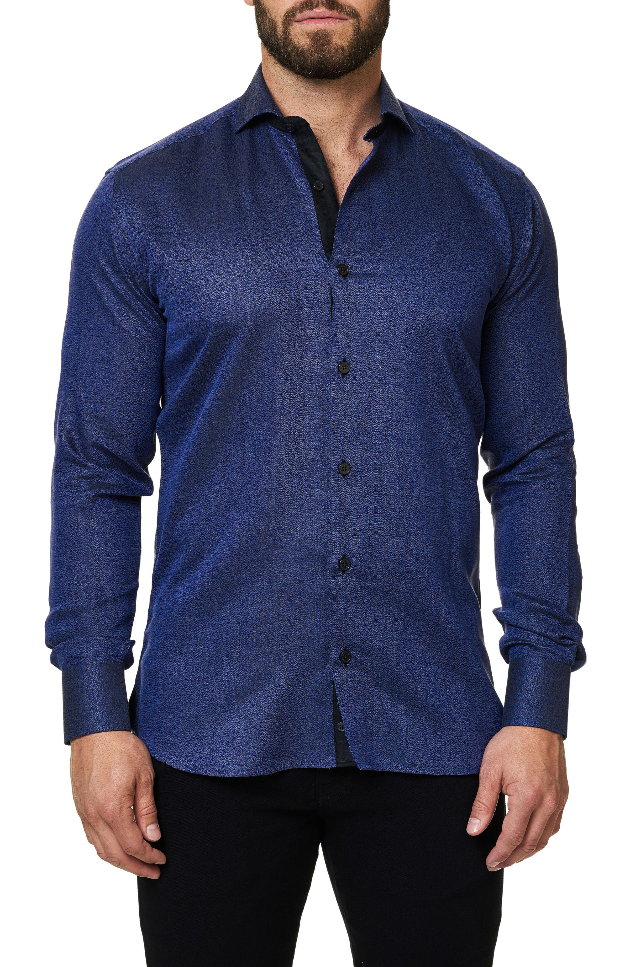 Trim Fit Sport Shirt,                         Main,                         color, Purple